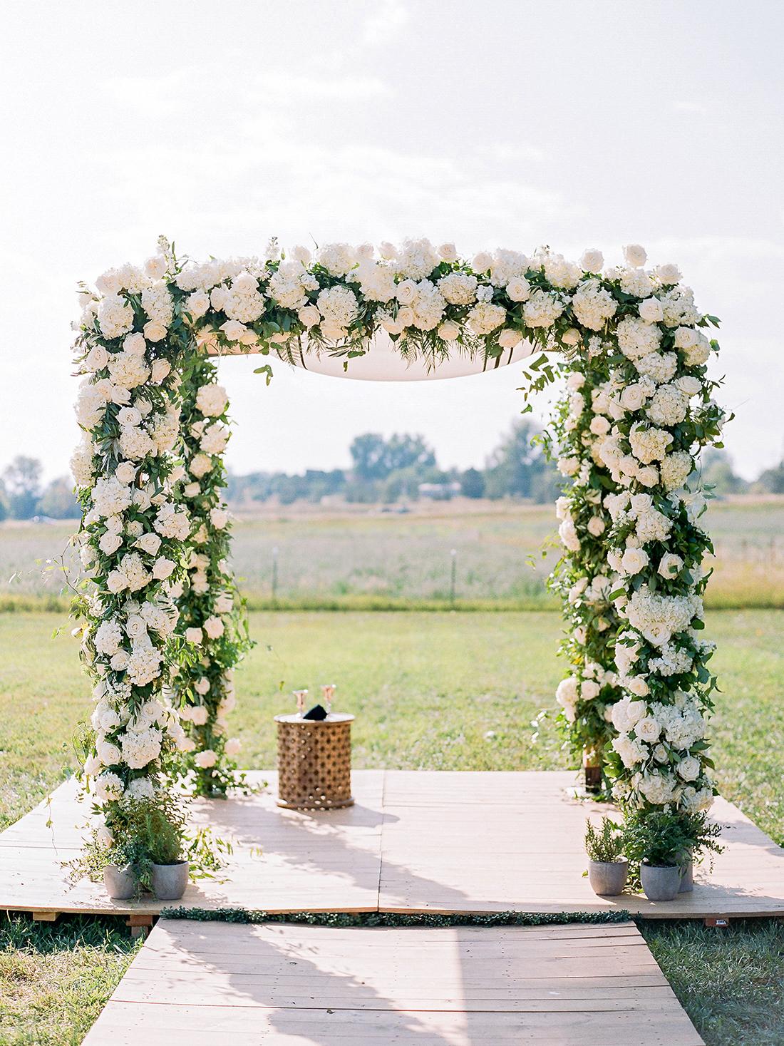 jamie jon wedding ceremony arch