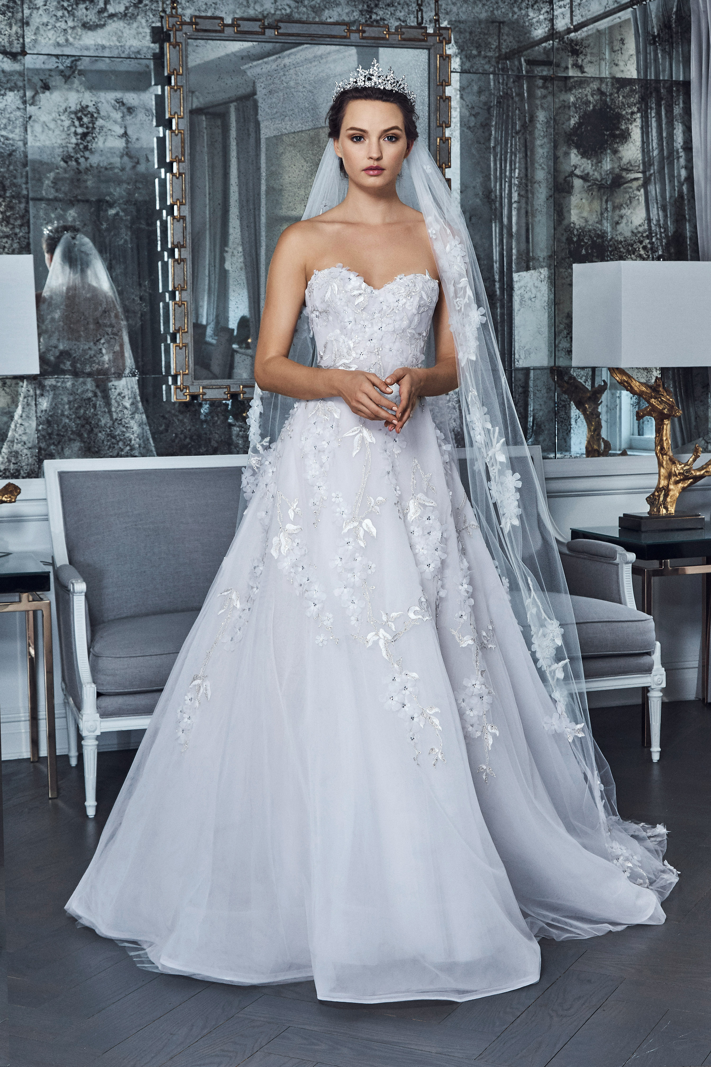 romona keveza collection wedding dress spring 2019 strapless a-line sweet heart
