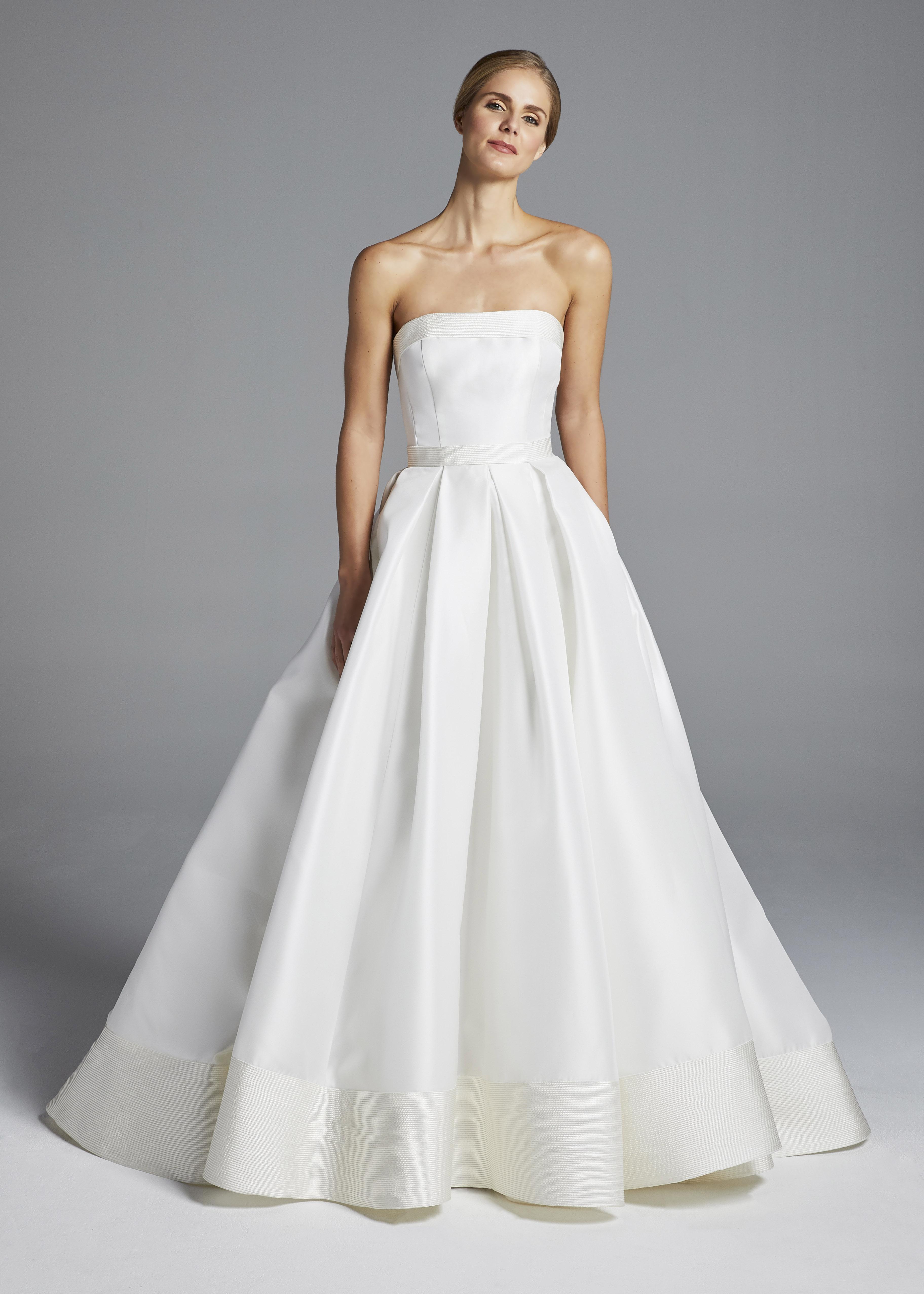 anne barge strapless A-Line wedding dress spring 2019