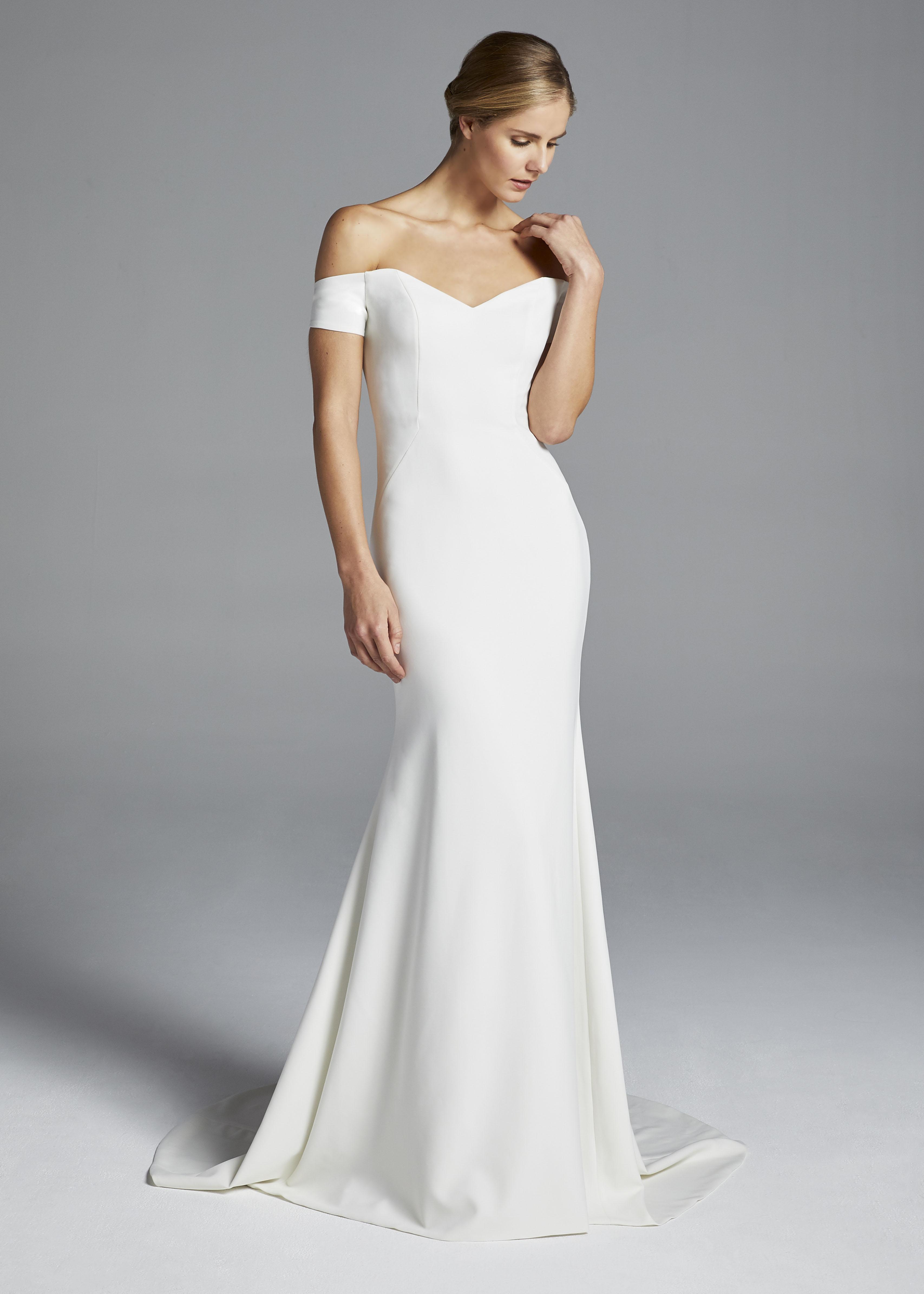 anne barge off the shoulder mermaid wedding dress spring 2019