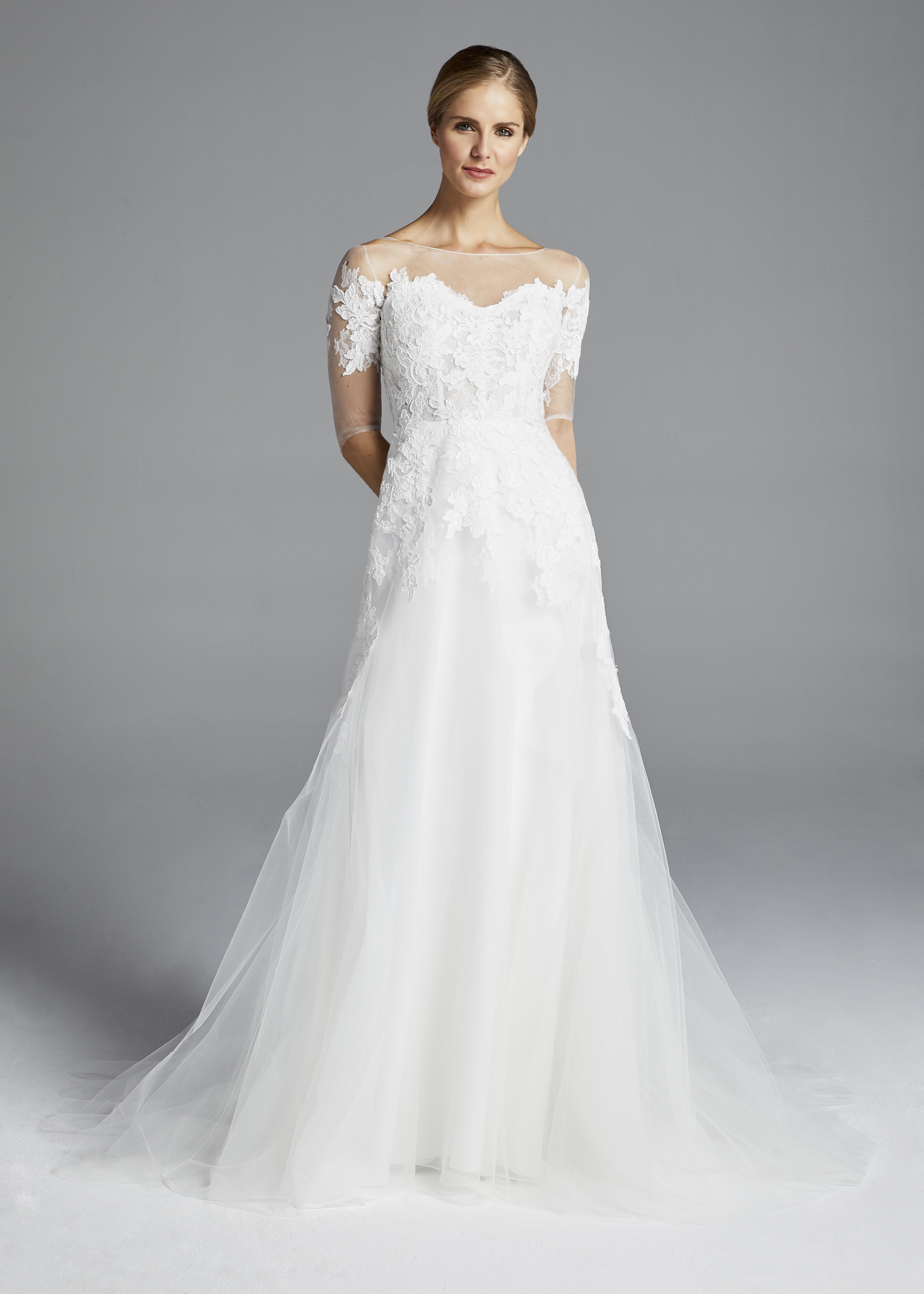 anne barge illusion sweetheart wedding dress spring 2019