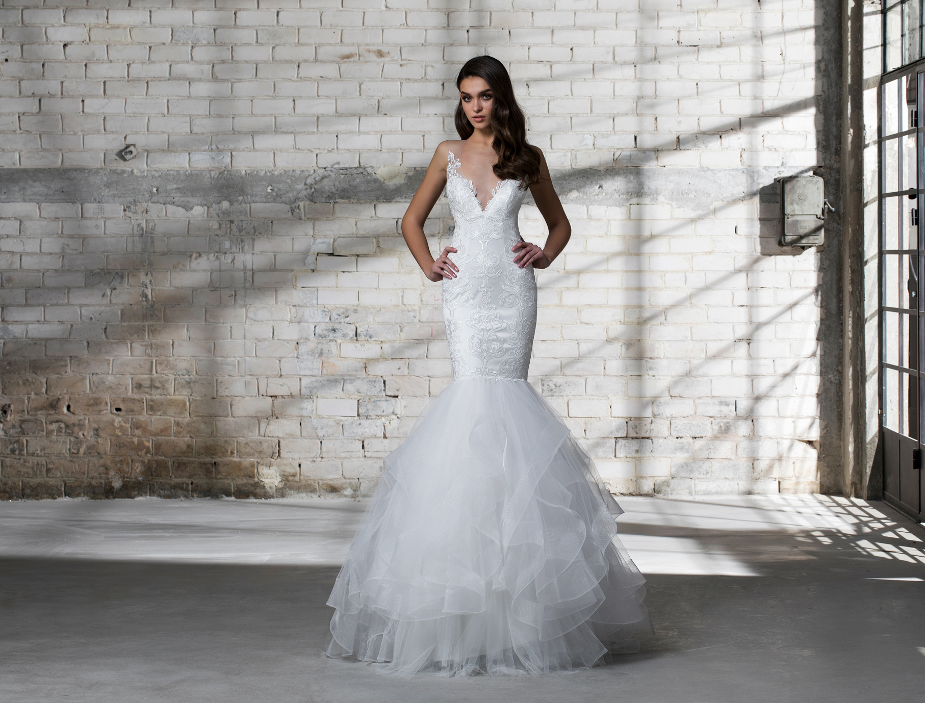 pnina tornai wedding dress spring 2019 mermaid v neck