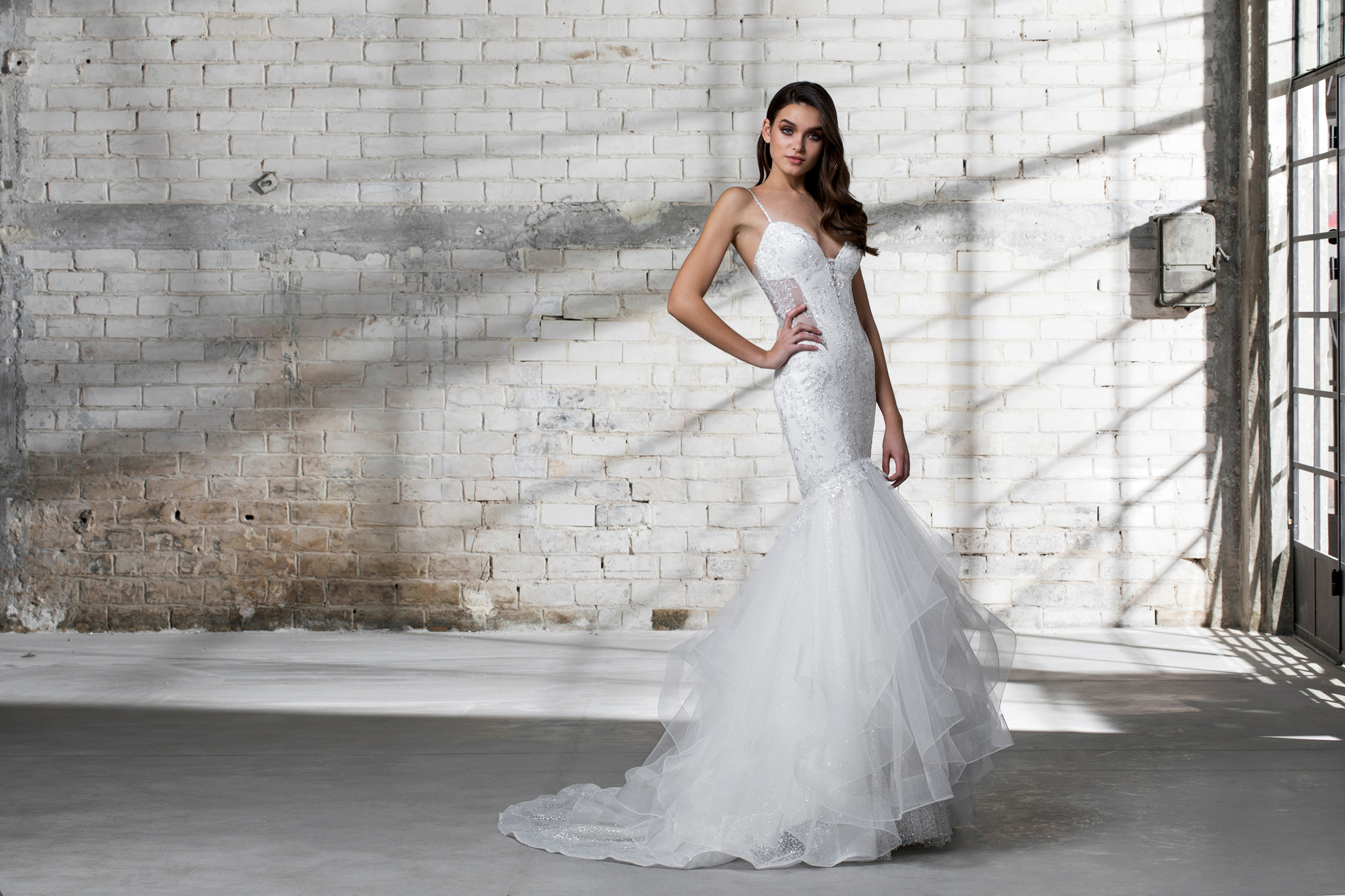 pnina tornai wedding dress spring 2019 mermaid spaghetti strap