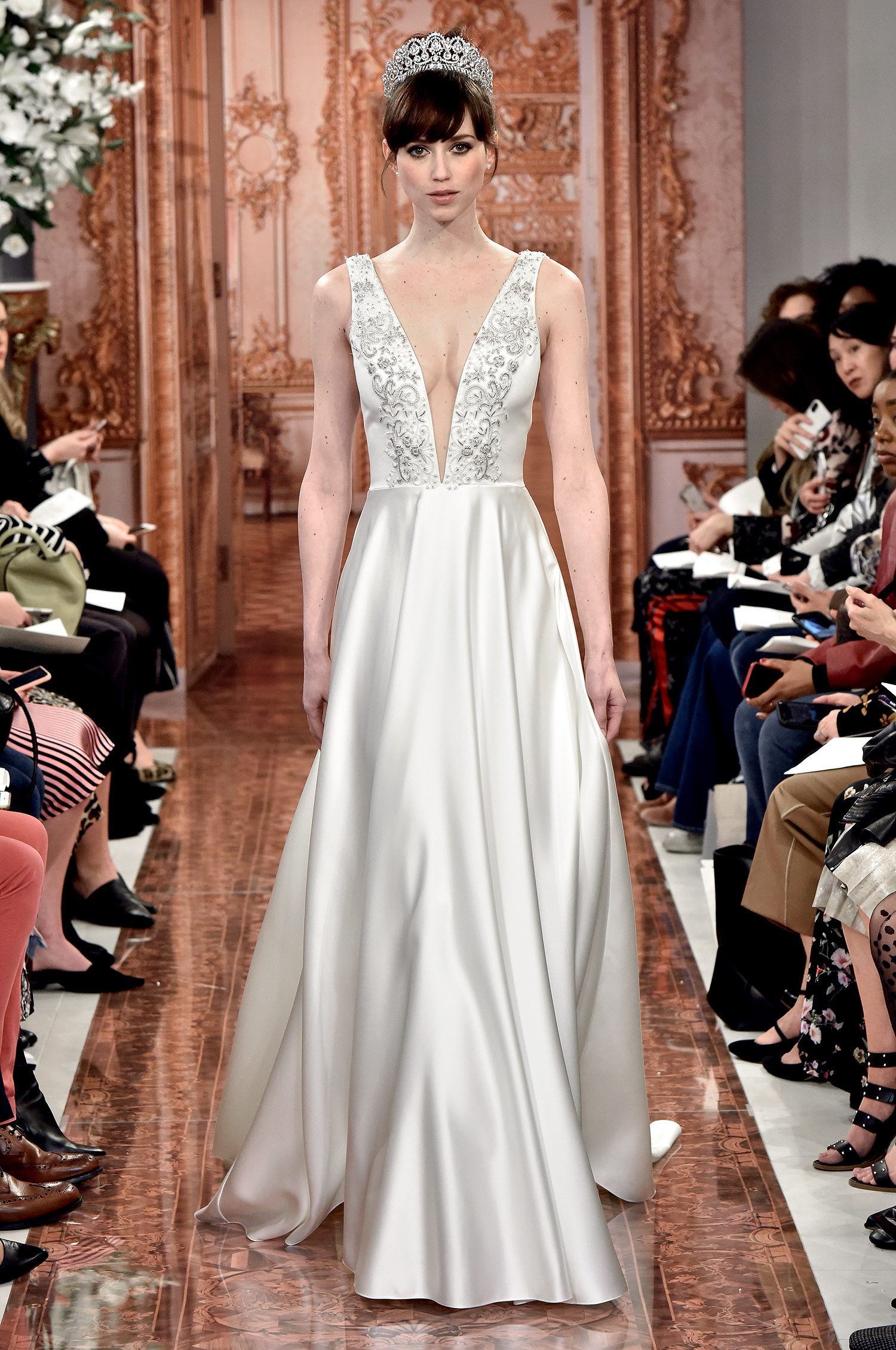 theia wedding dress spring 2019 plunging neck a-line