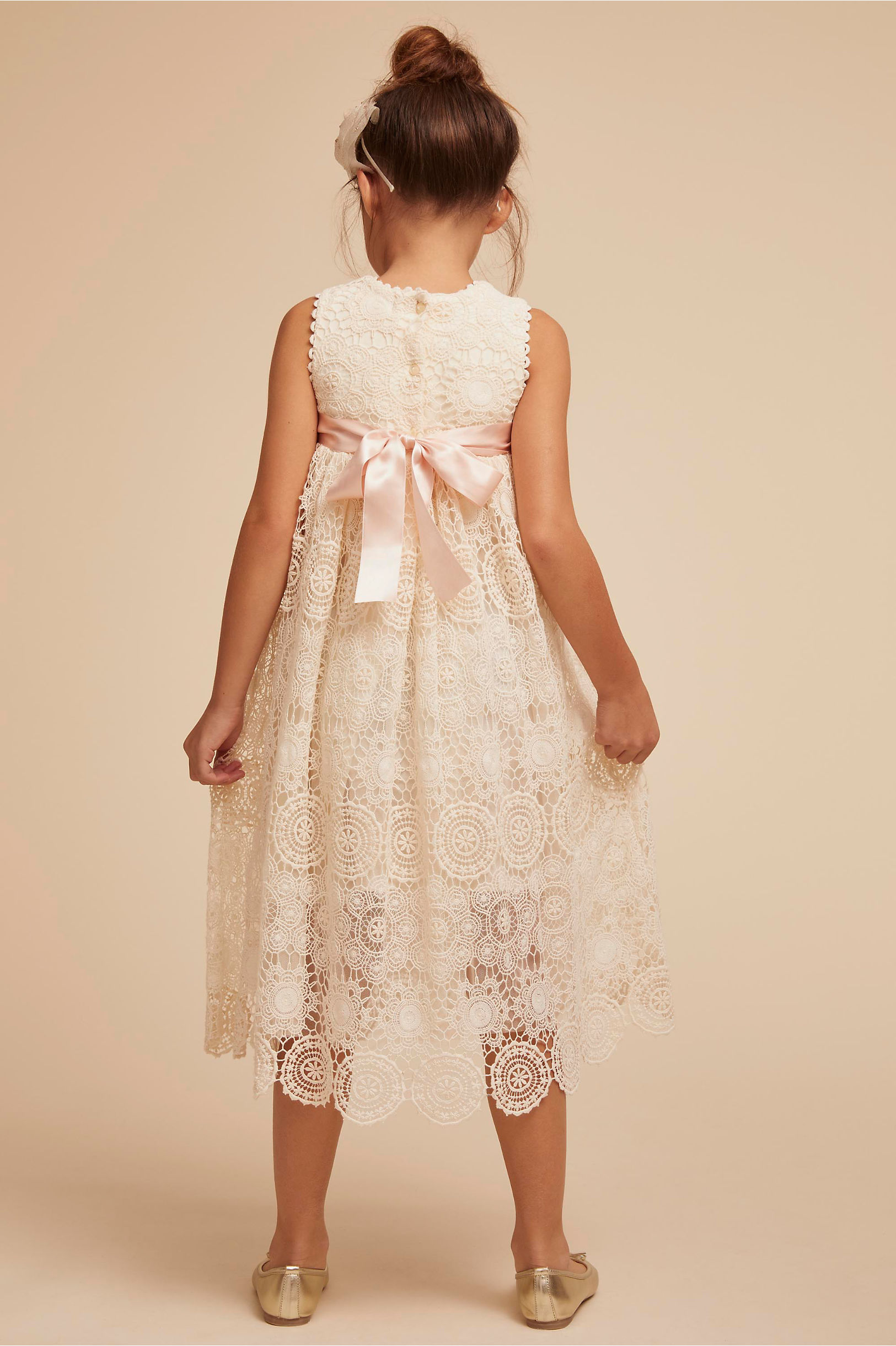 BHLDN Tia Flower Girl Dress with Bow