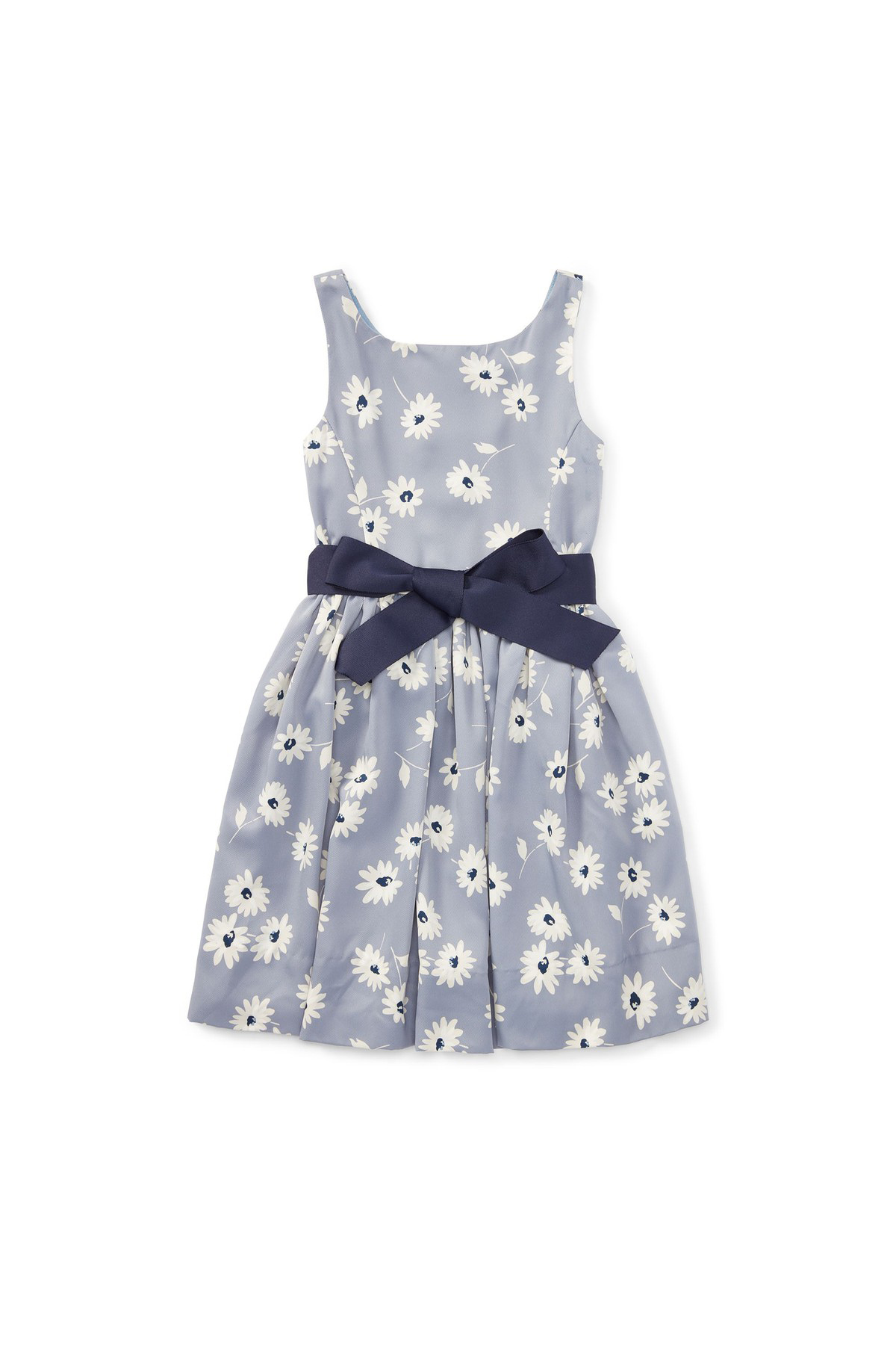 blue floral flower girl dress