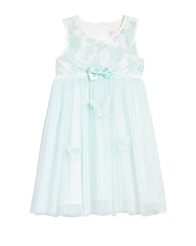 teal flower girl dress bow