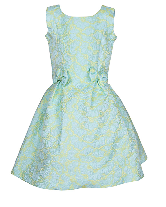 teal flower girl dress