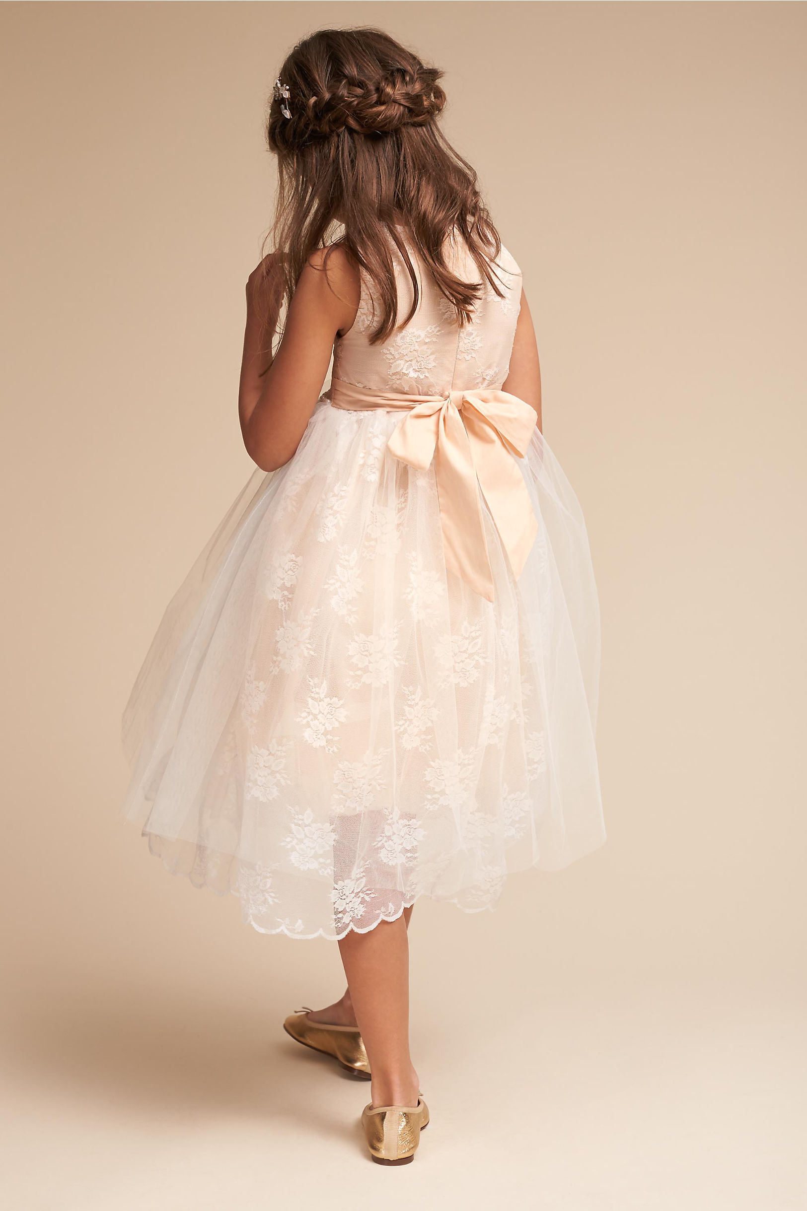 BHLDN Alix Flower Girl Dress with Bow