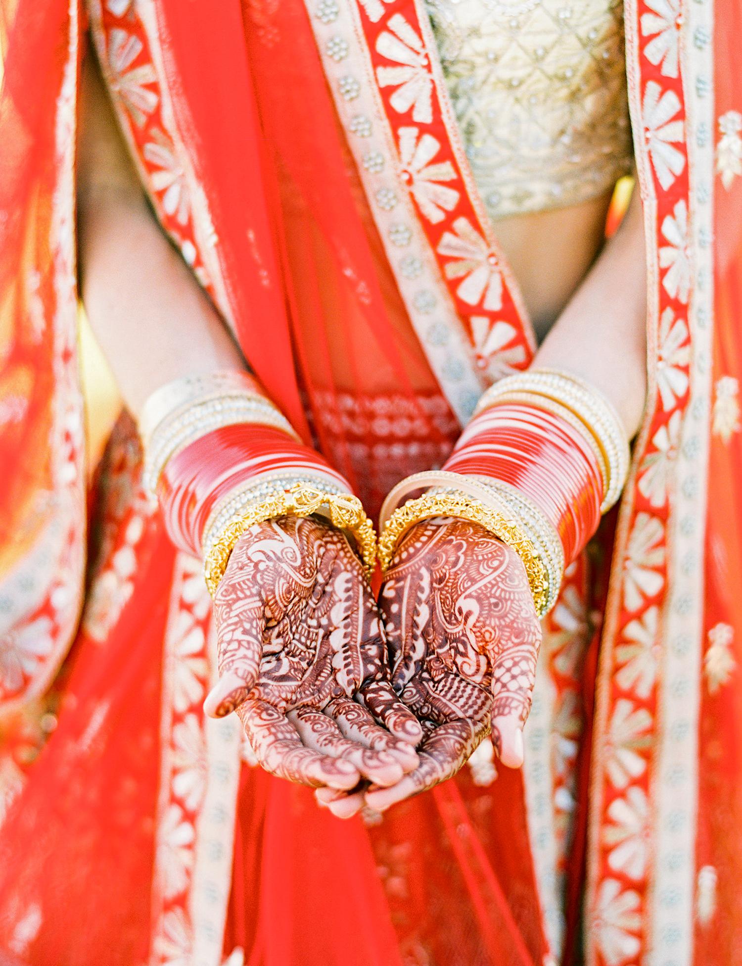 caitlin amit indian wedding bride henna