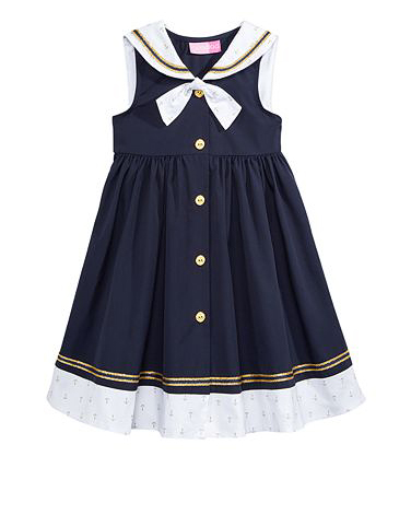 nautical flower girl dress