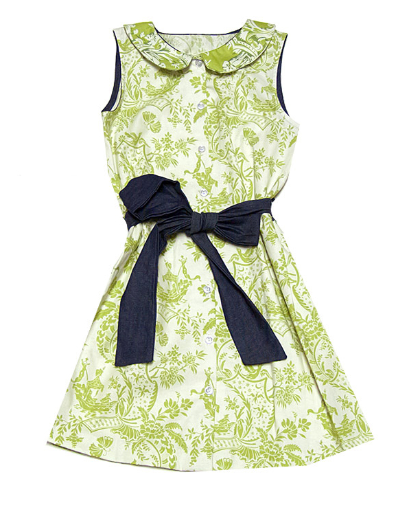 green flower girl dress black bow