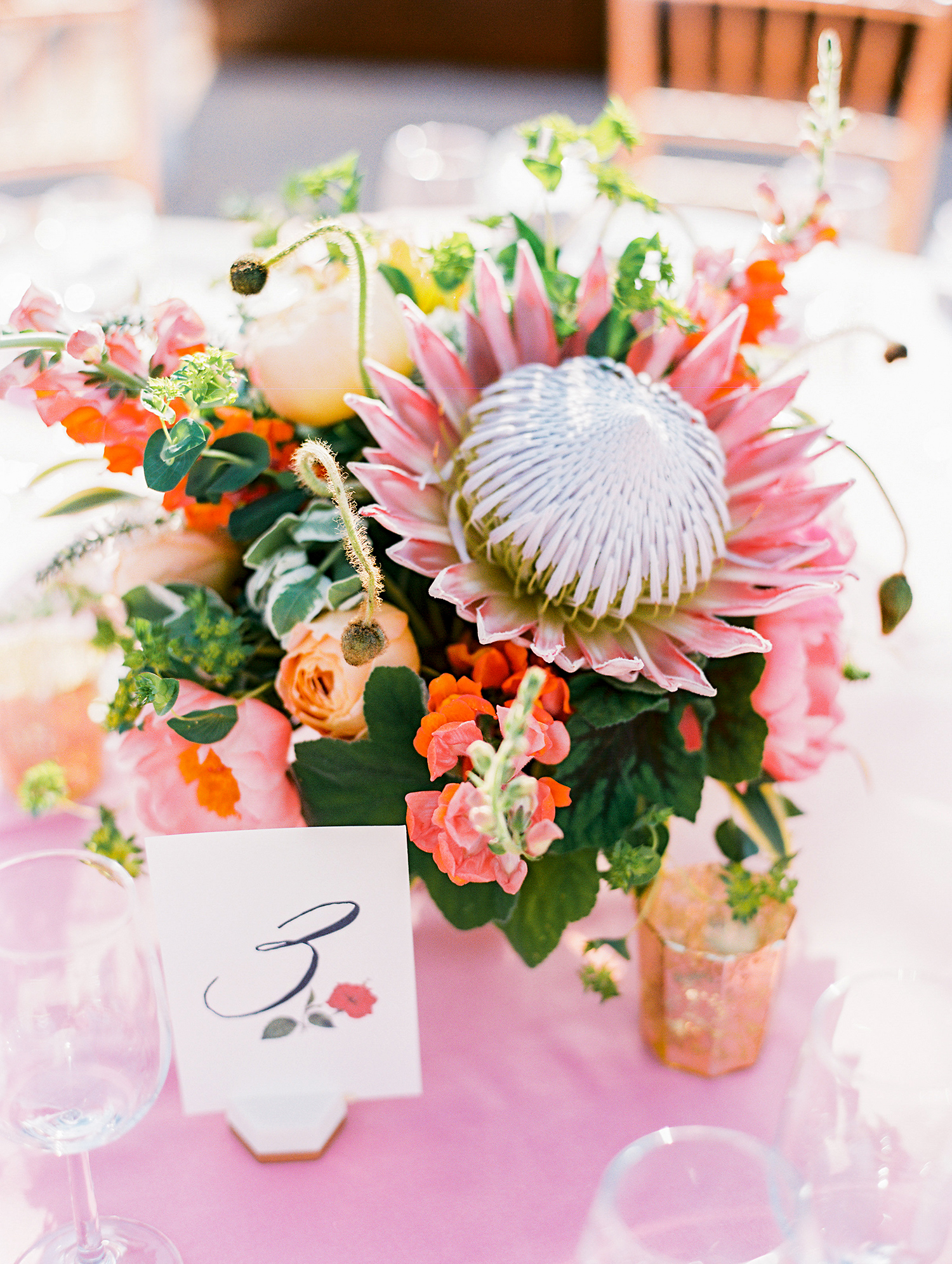 caitlin amit indian wedding floral centerpiece