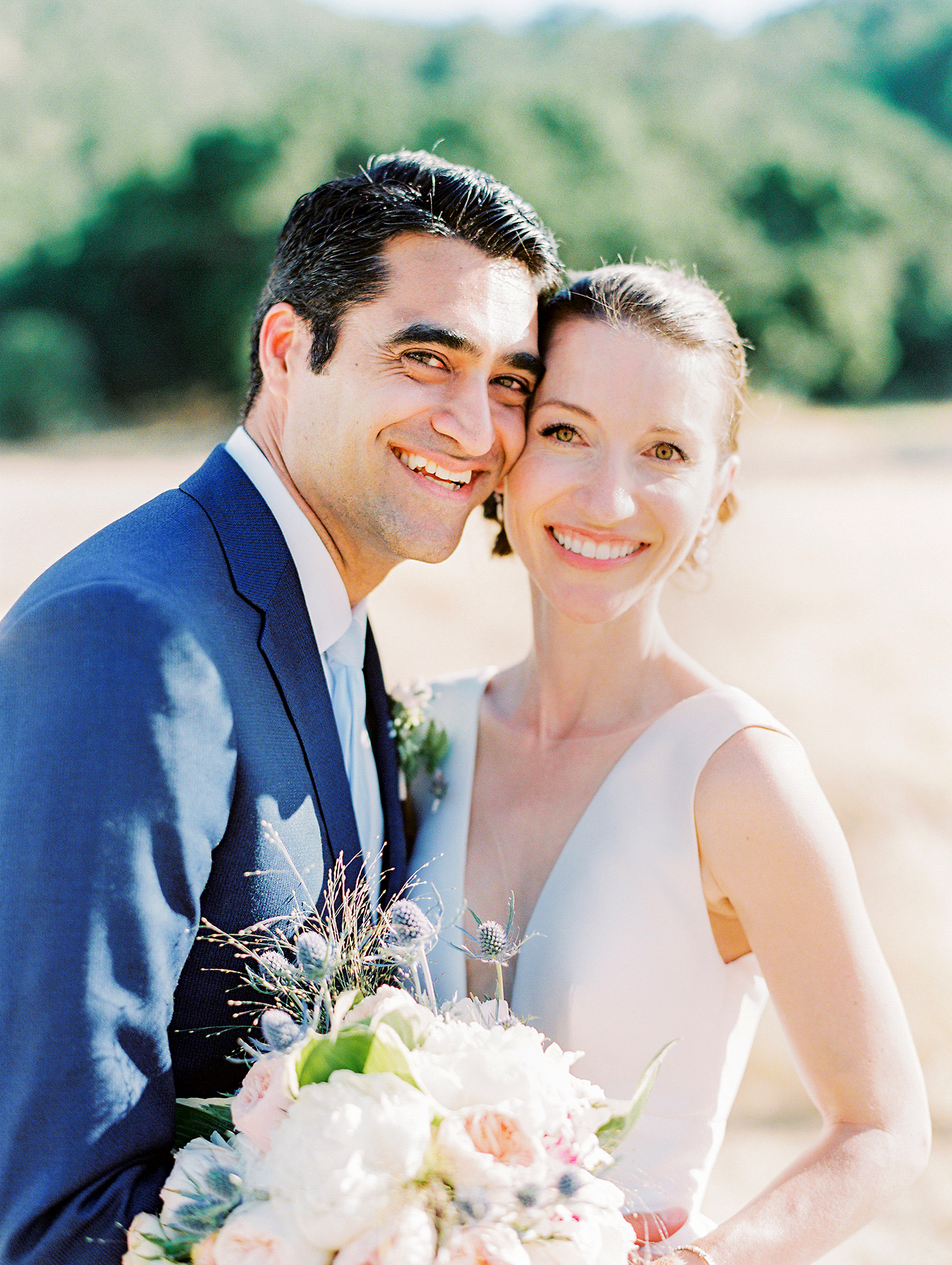 caitlin amit wedding couple outdoor portrait