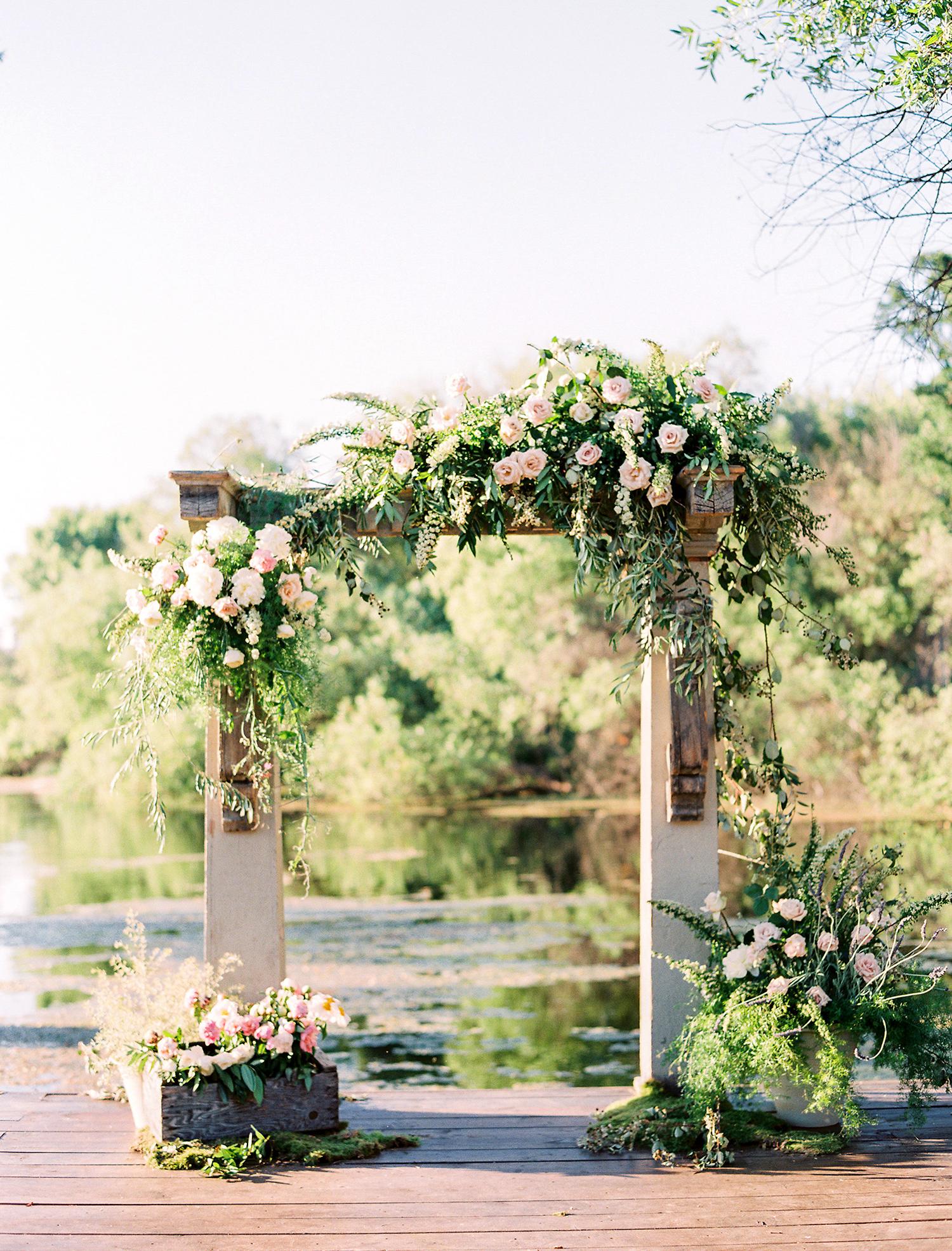 caitlin amit wedding ceremony arch