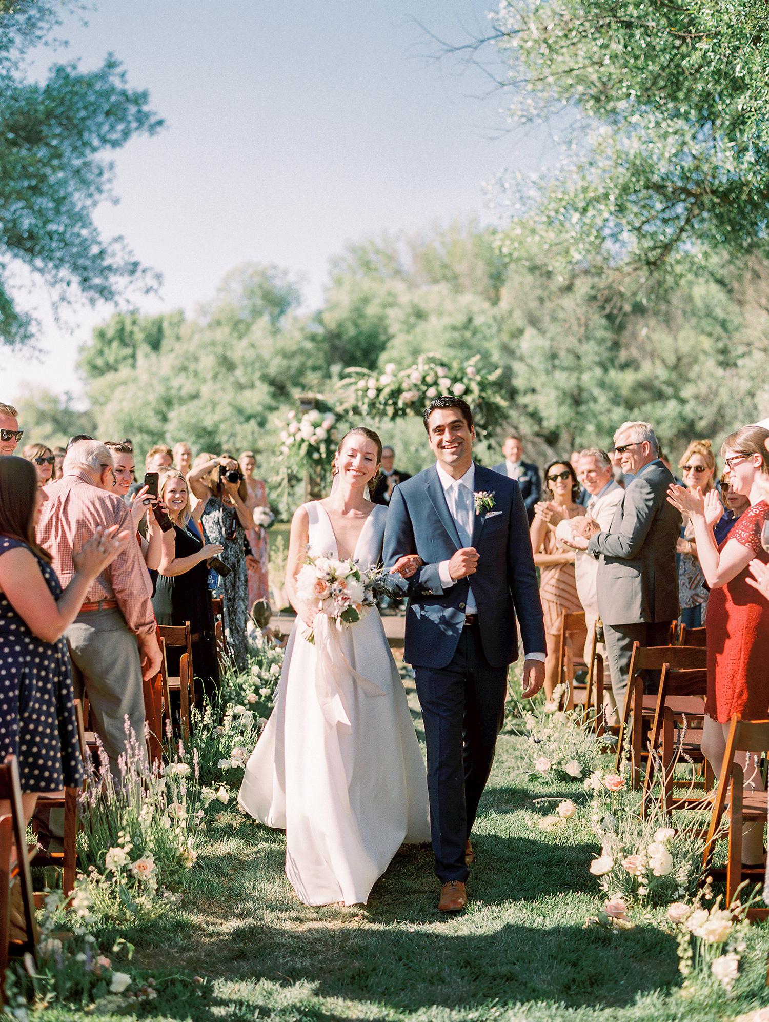 caitlin amit wedding couple recessional