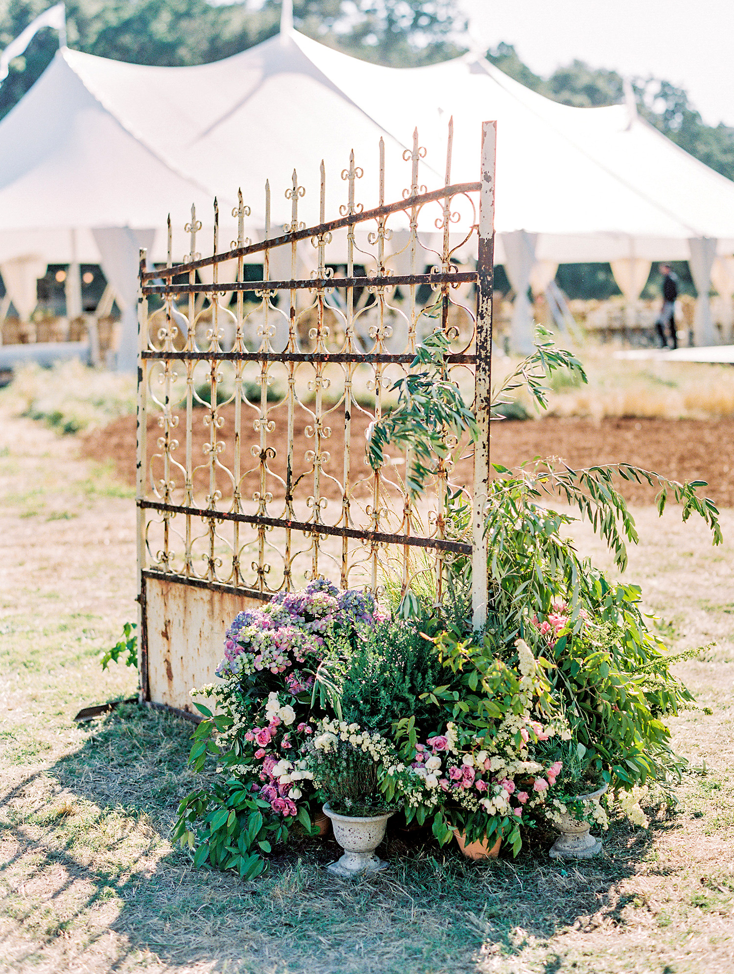 caitlin amit wedding gate with floral decor