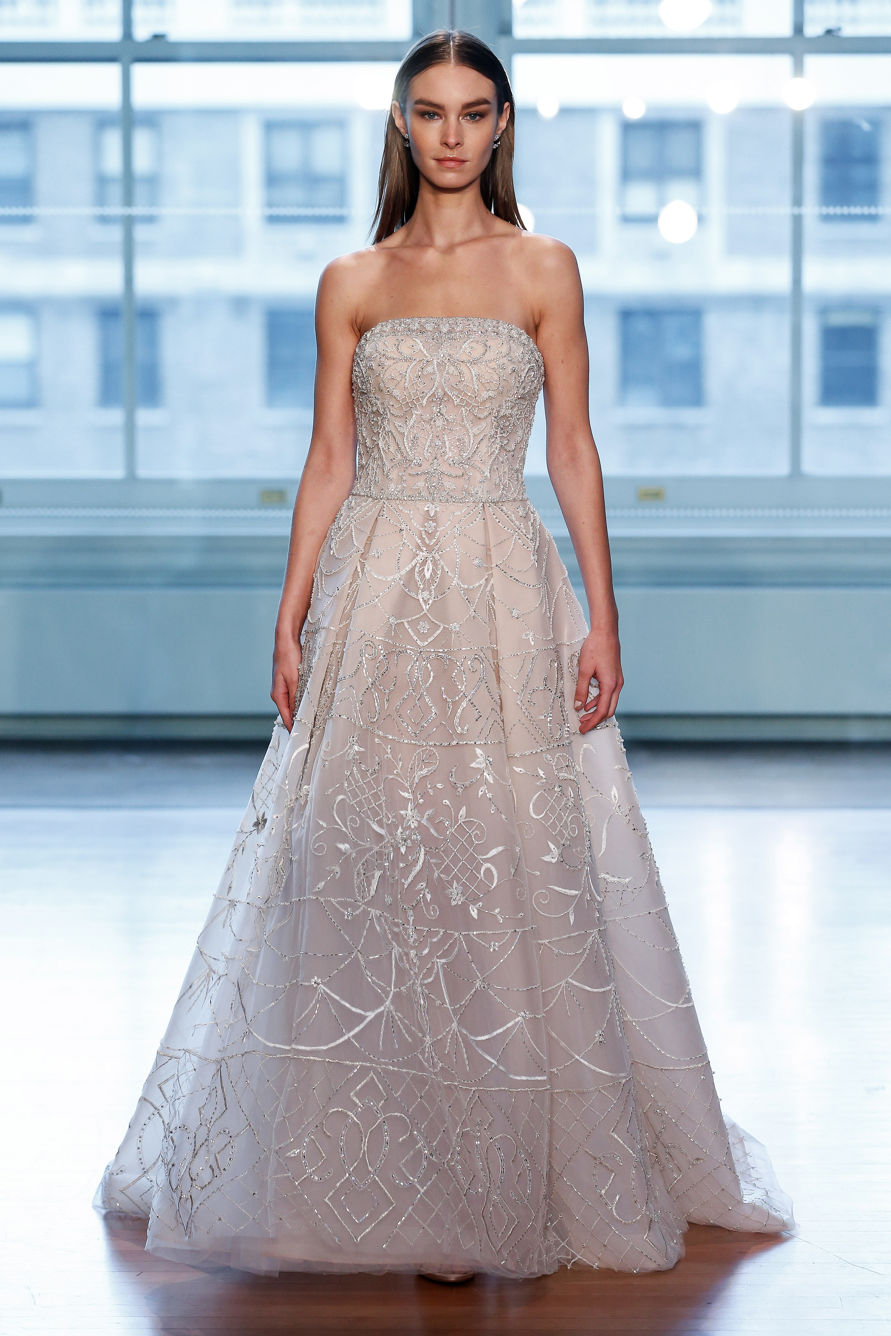 justin alexander wedding dress spring 2019 strapless beaded a-line champagne