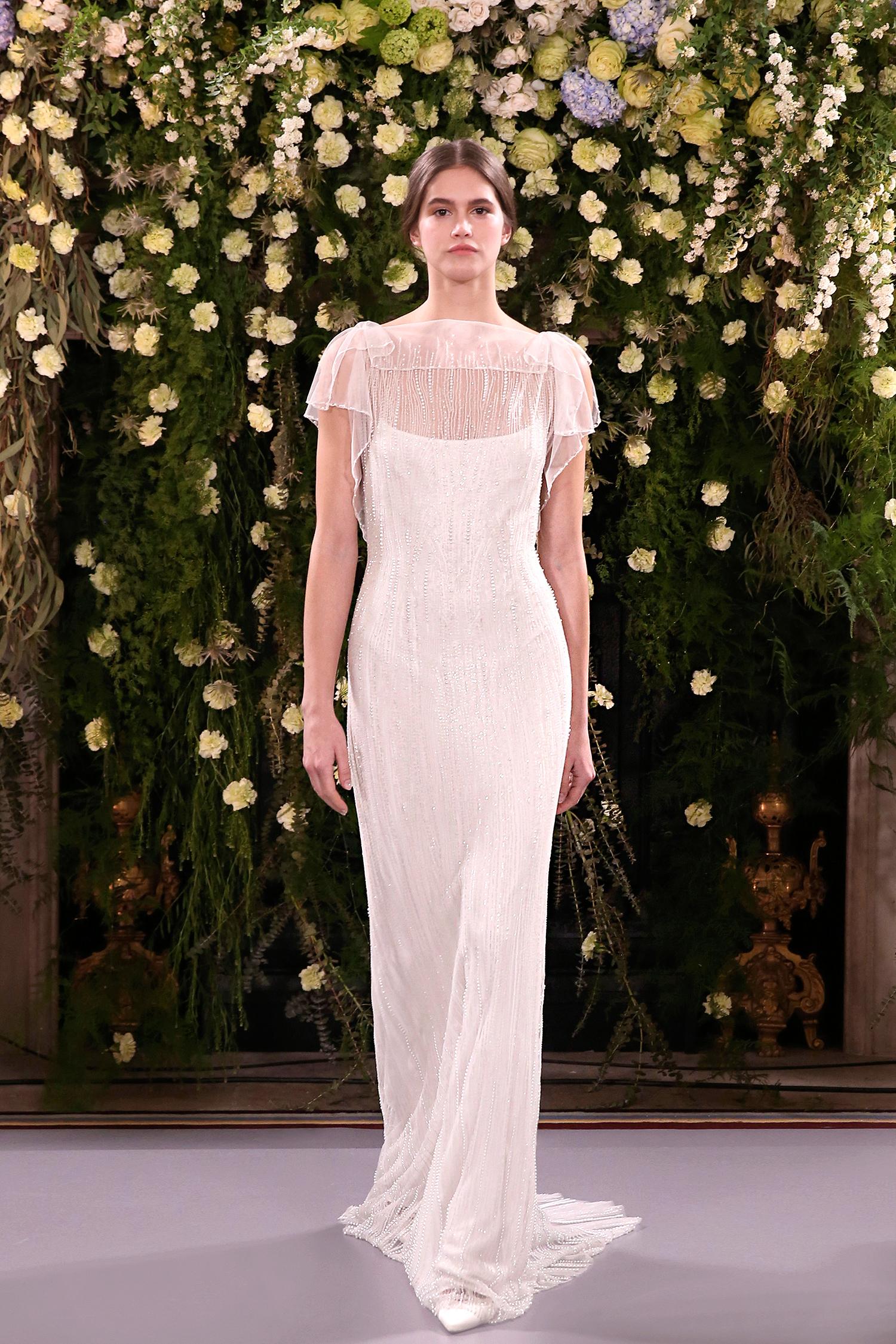 jenny packham wedding dress spring 2019 embellished bodice overlay