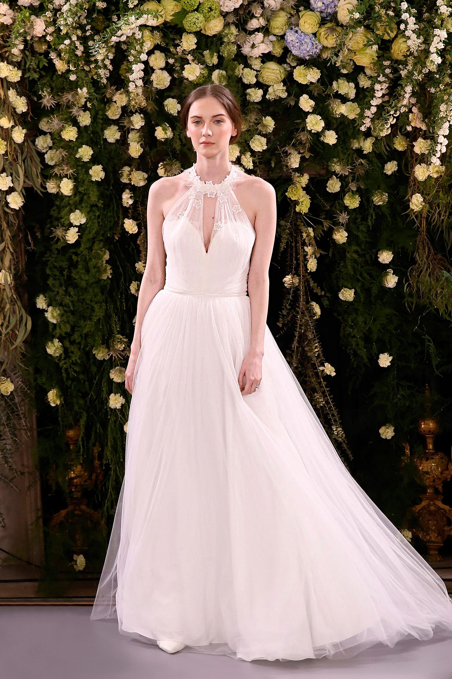 jenny packham wedding dress spring 2019 ball gown applique halter
