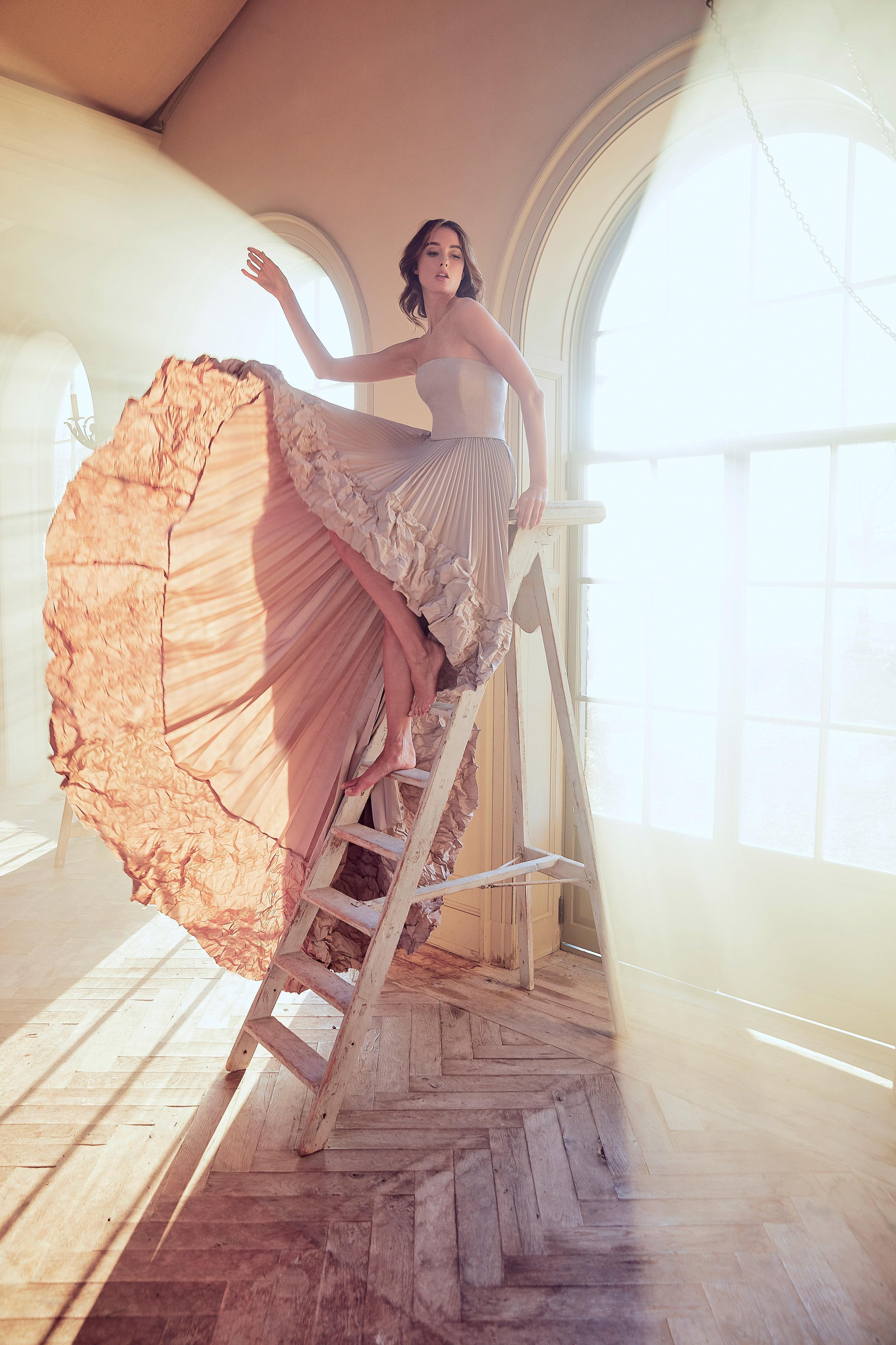 sareh nouri wedding dress spring 2019 tan strapless
