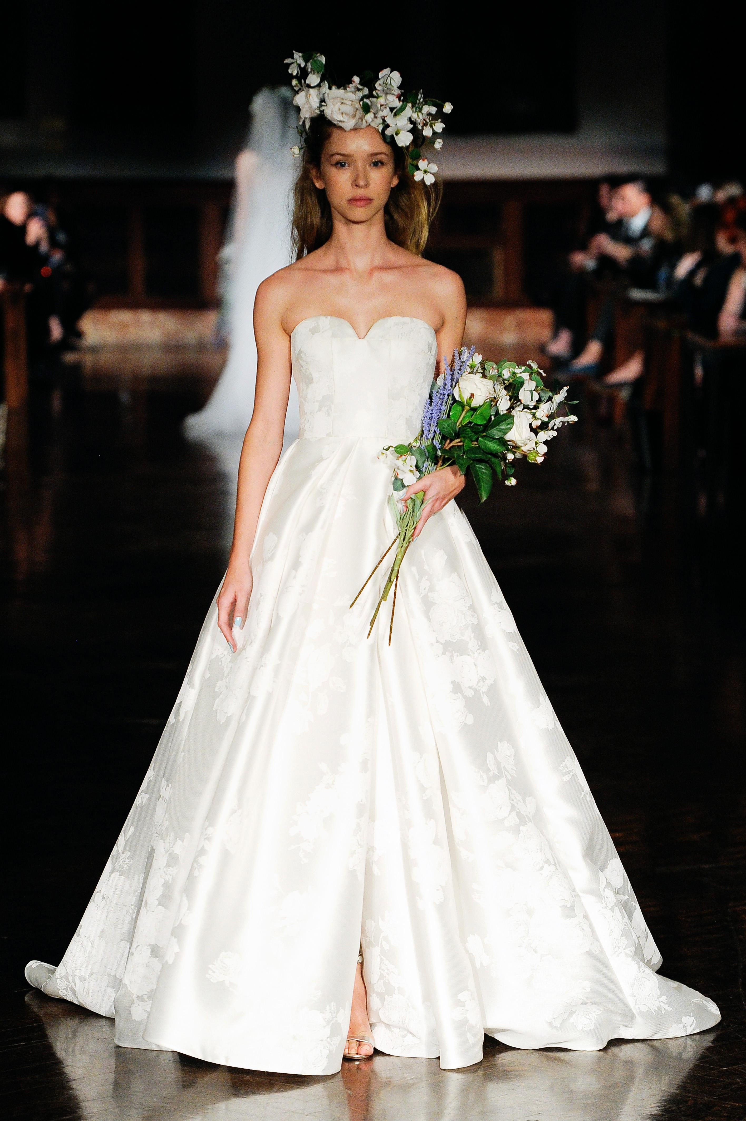 reem acra wedding dress spring 2019 sweet heart ball gown