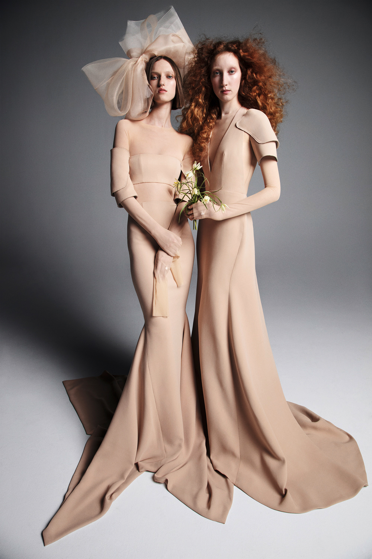 vera wang wedding dress spring 2019 tan sleeves a-line trumpet