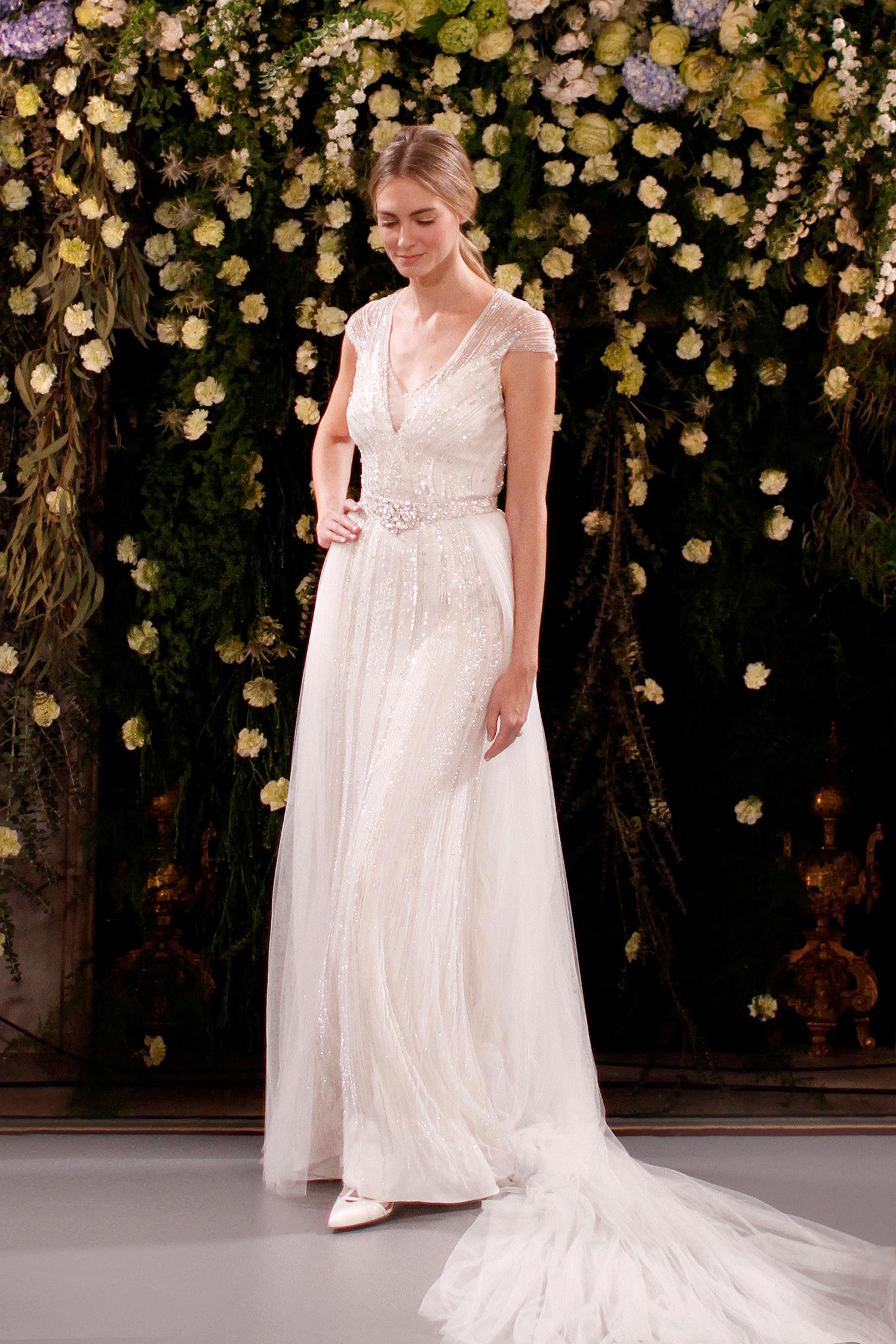 jenny packham wedding dress spring 2019 cap-sleeved embellished overlay