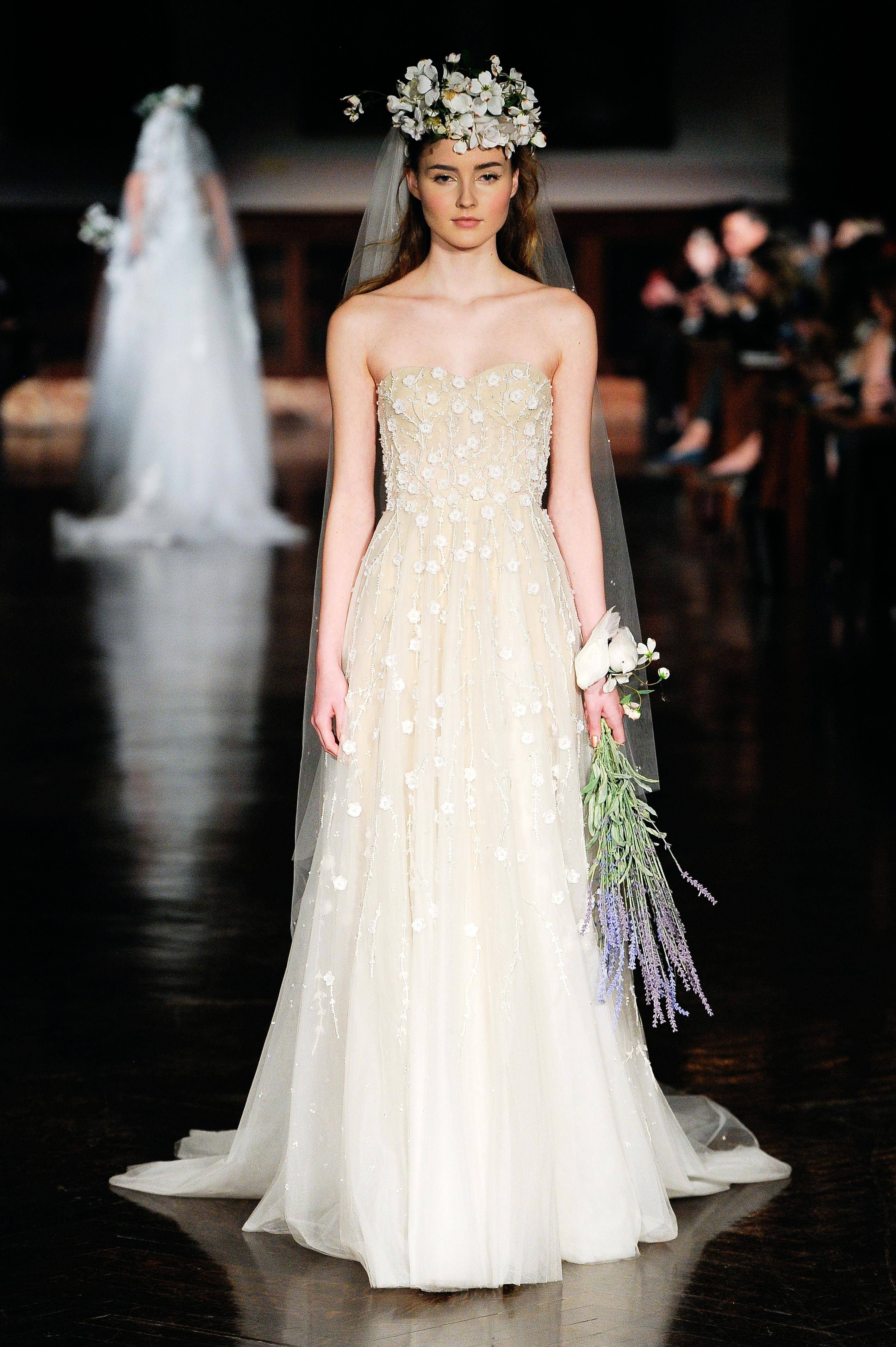 reem acra wedding dress spring 2019 a-line strapless