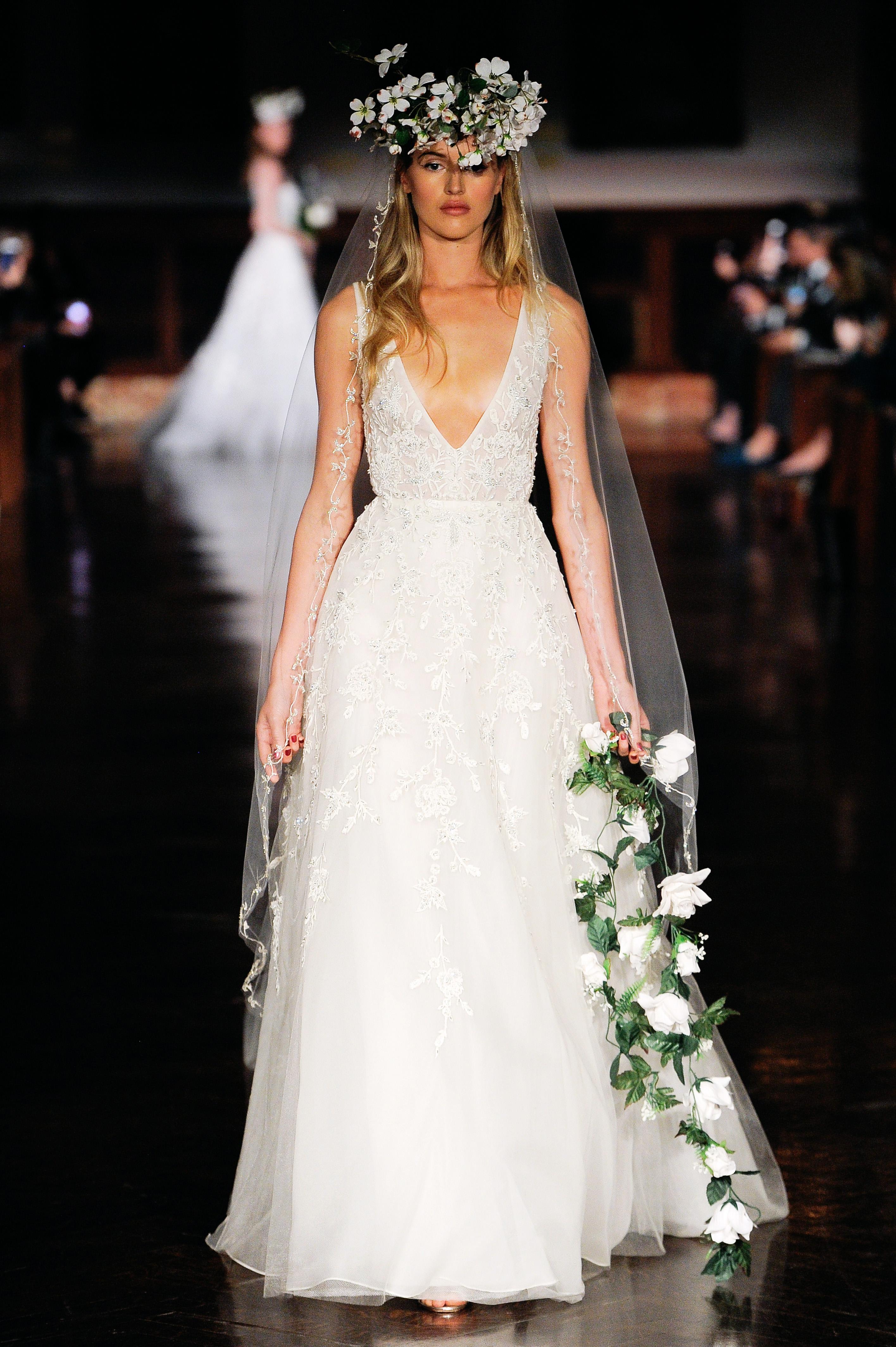 reem acra wedding dress spring 2019 v-neck sleeveless a-line