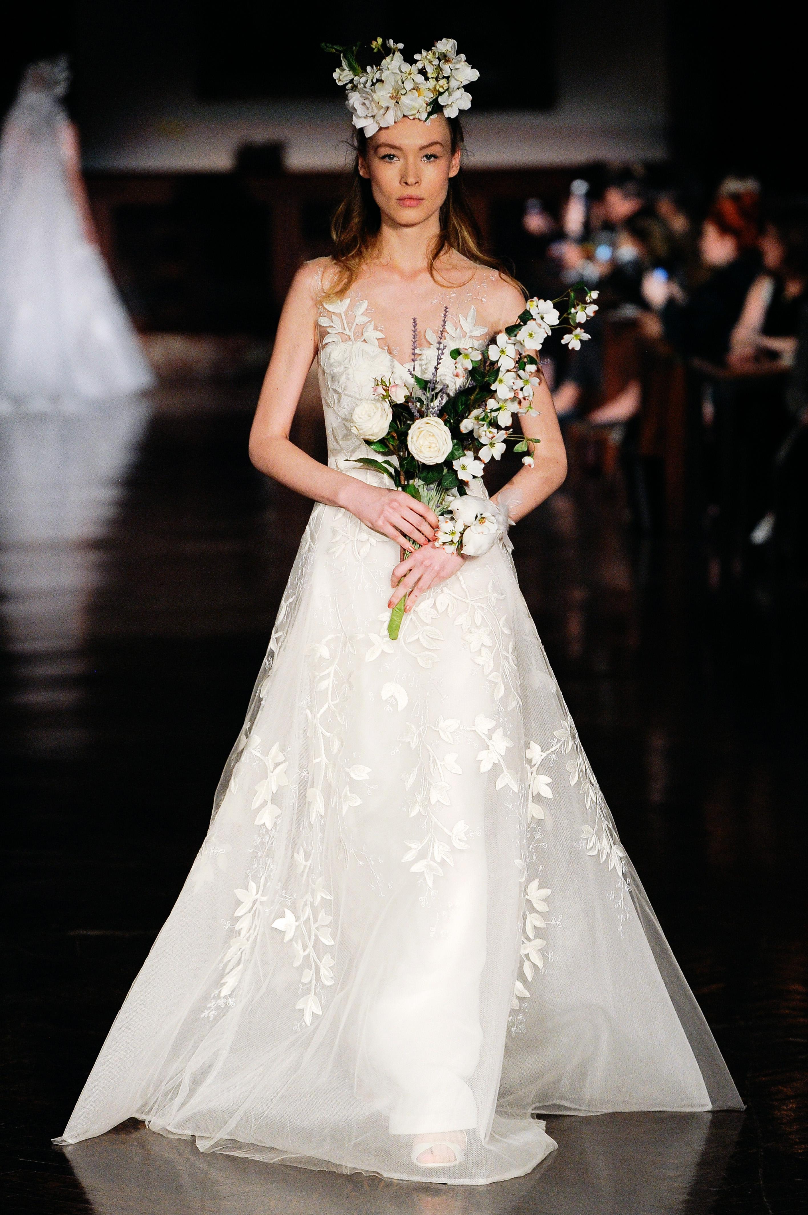 reem acra wedding dress spring 2019 illusion a-line