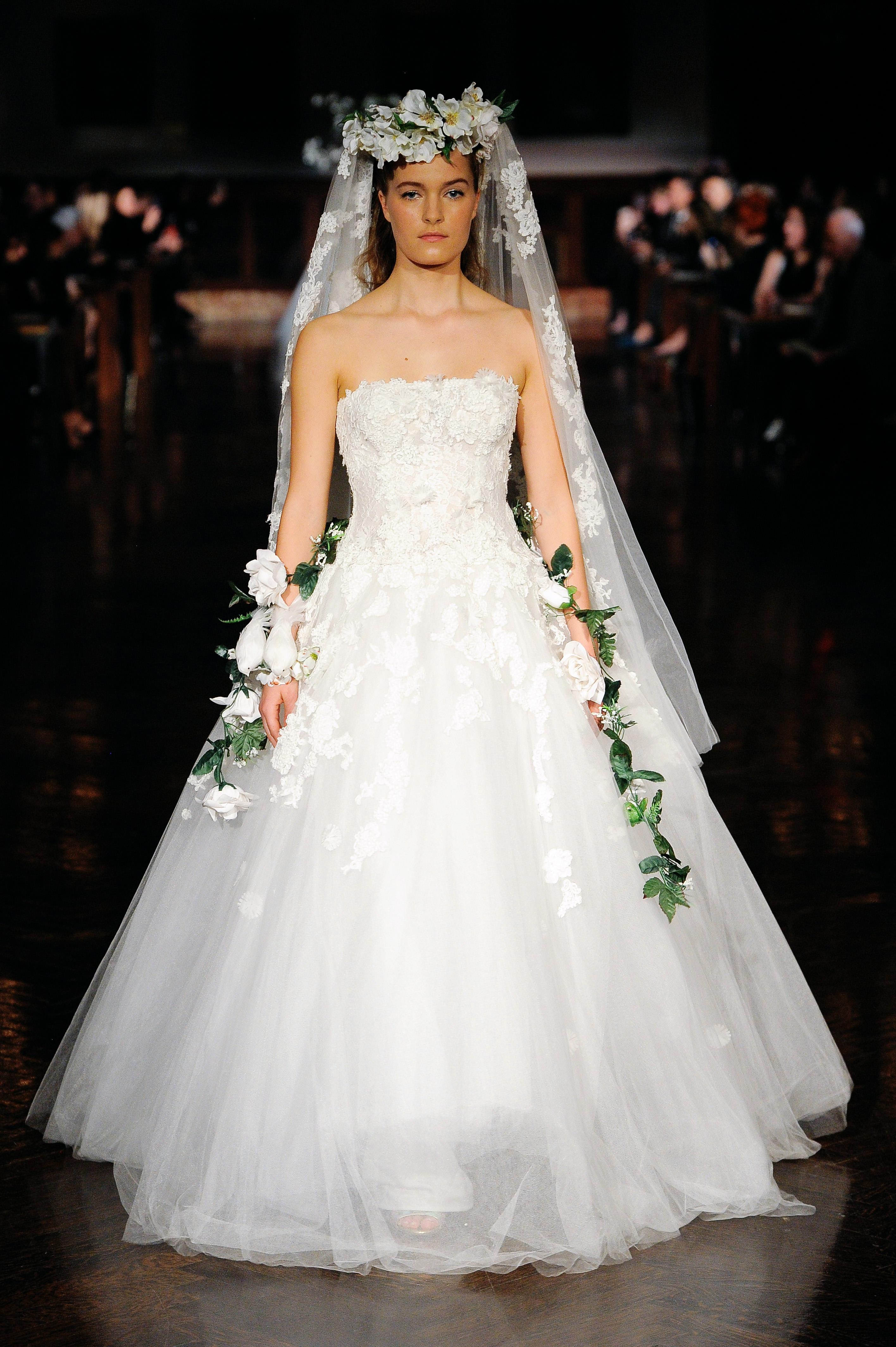 reem acra wedding dress spring 2019 strapless ball gown