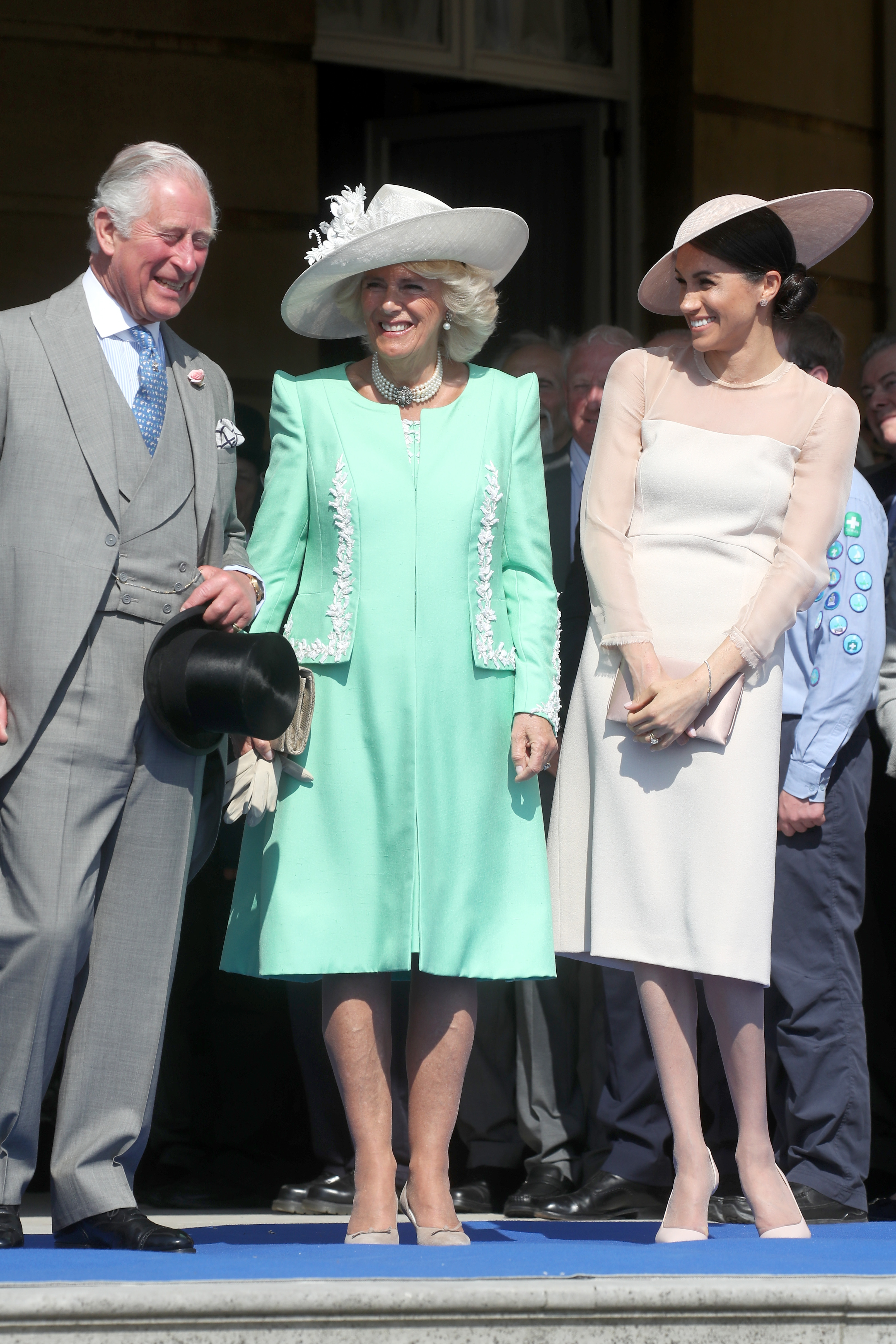 Prince Charles Camilla Parker Bowles and Meghan Markle