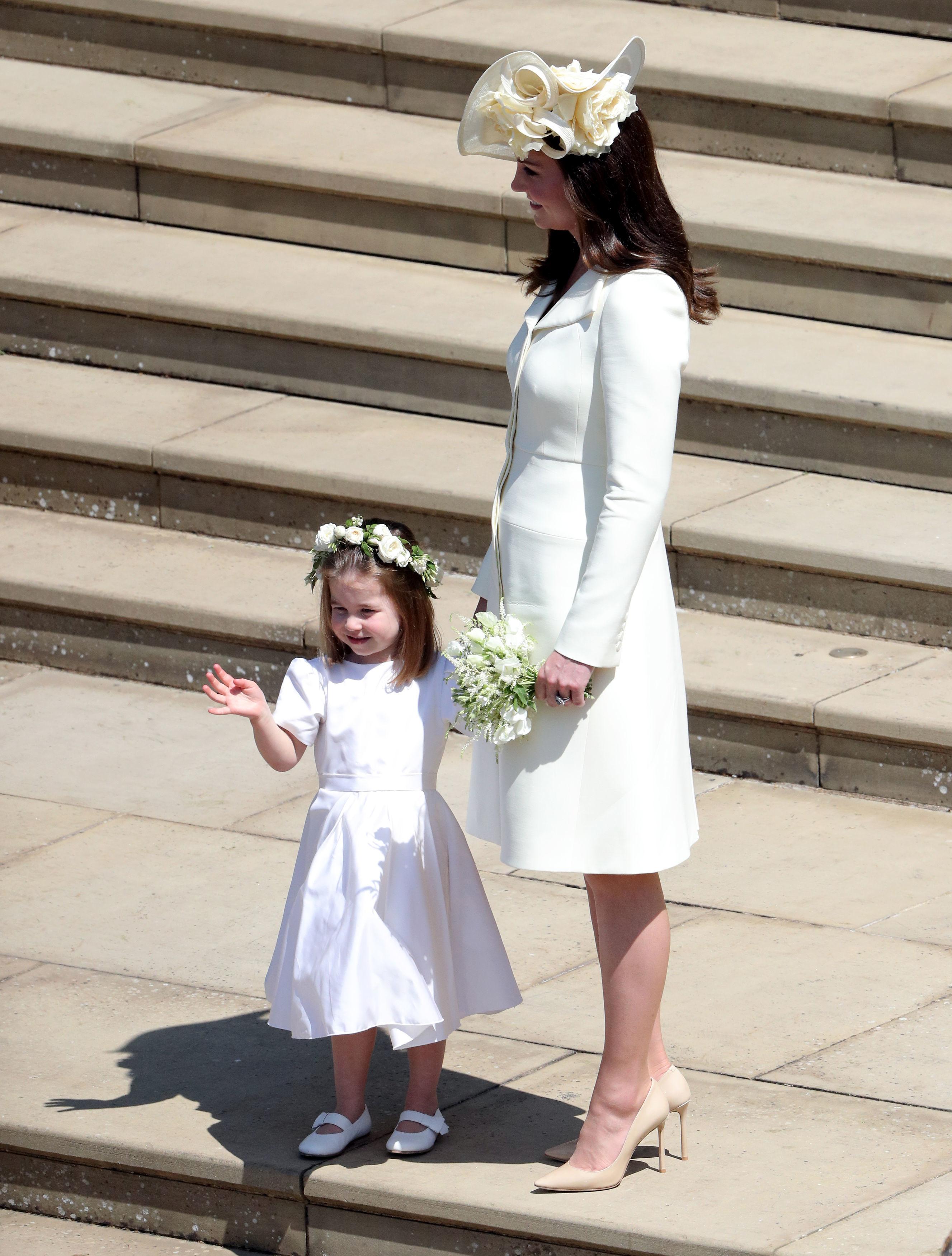 Kate Middleton and Princess Charlotte royal wedding 2018