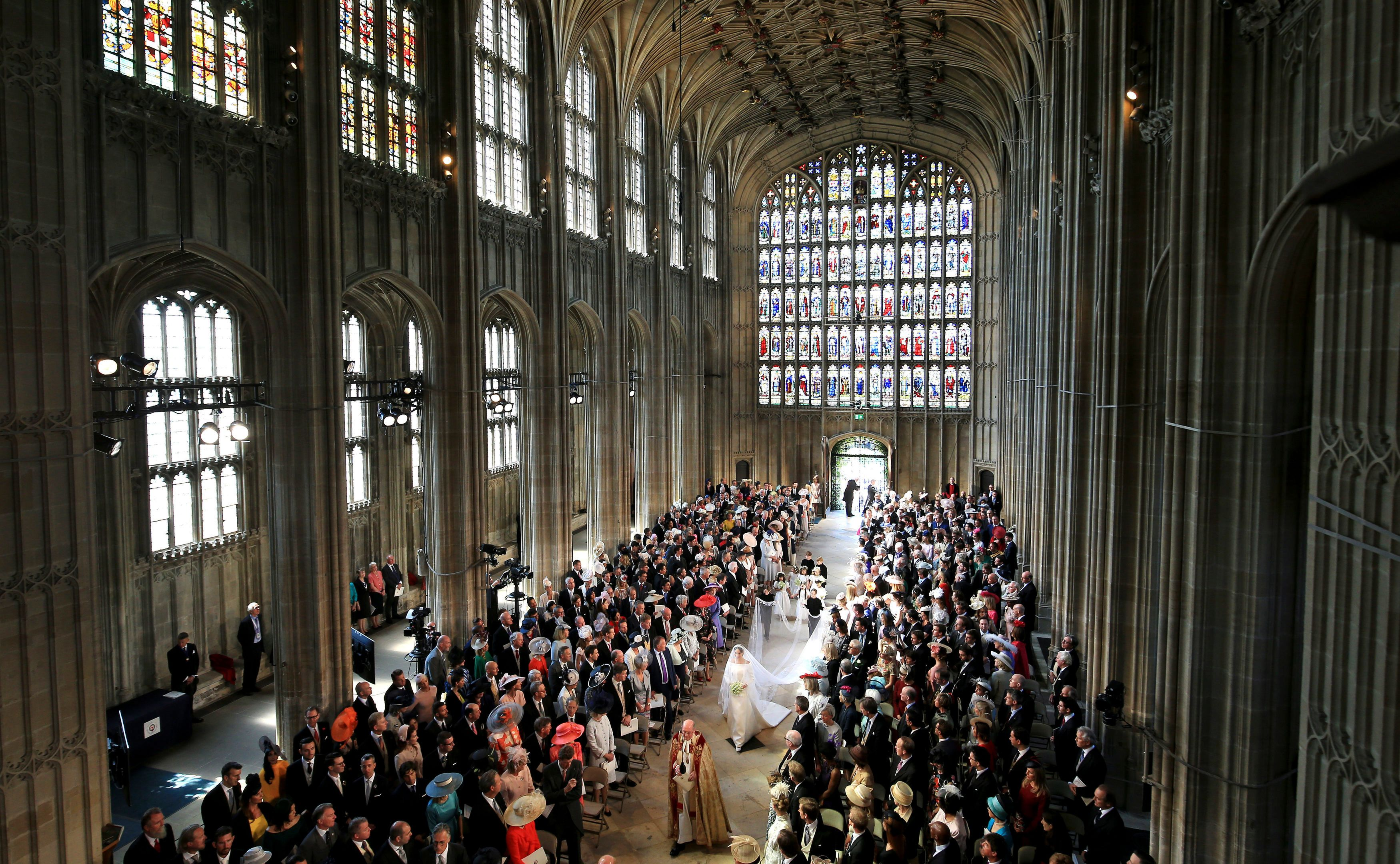 Meghan Markle Ceremony Entrance St. George's Chapel