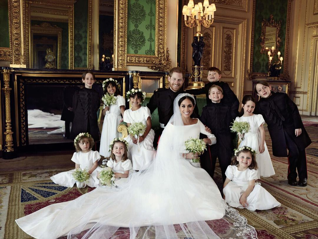 Prince Harry and Meghan Markle, Official Wedding Portrait with Wedding Party