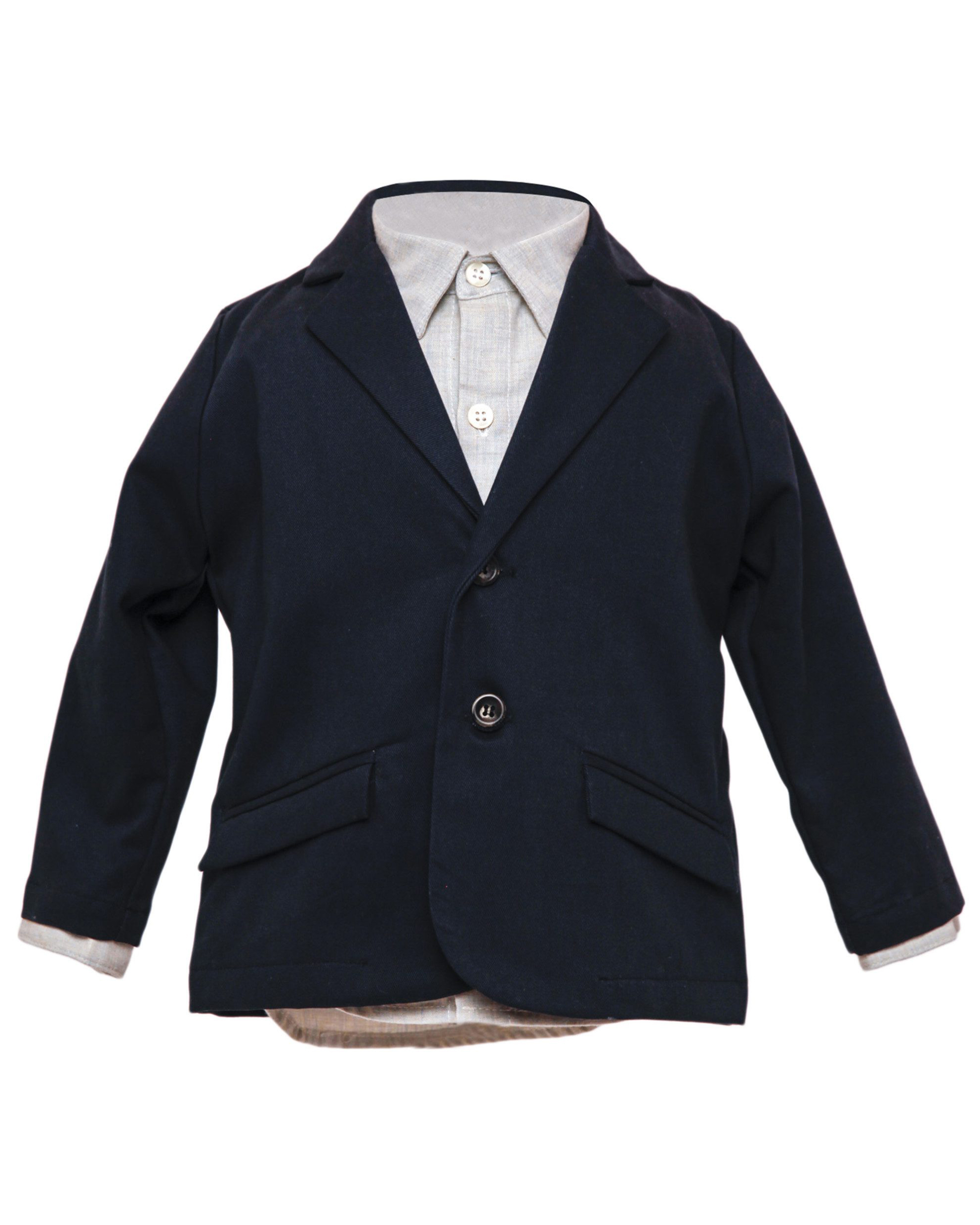 "Hopper Hunter ""Huckleberry"" Blazer in Navy Twill"