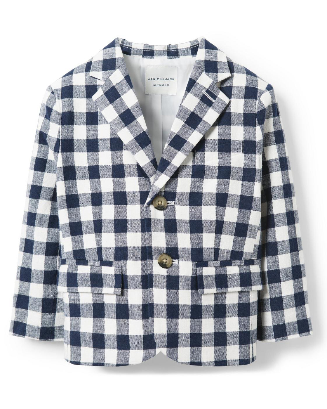 Janie and Jack Gingham Blazer