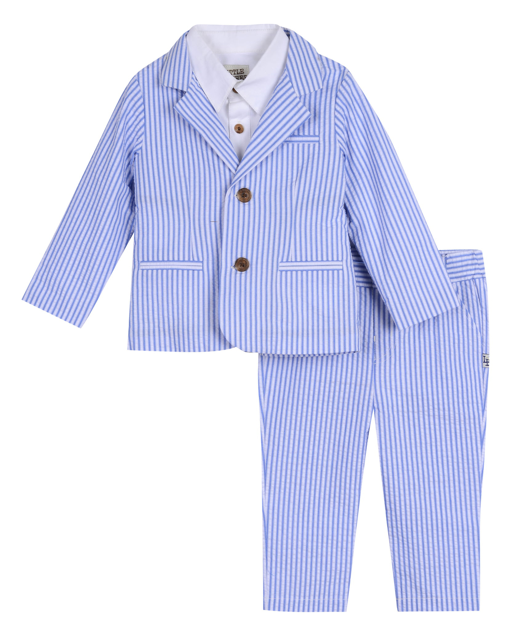 Little Brother by Pippa & Julie Seersucker Suit Set