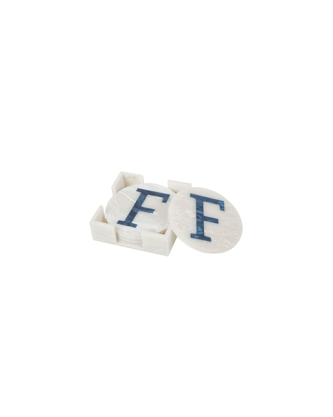 ivory anniversary gifts initial coasters edie parker