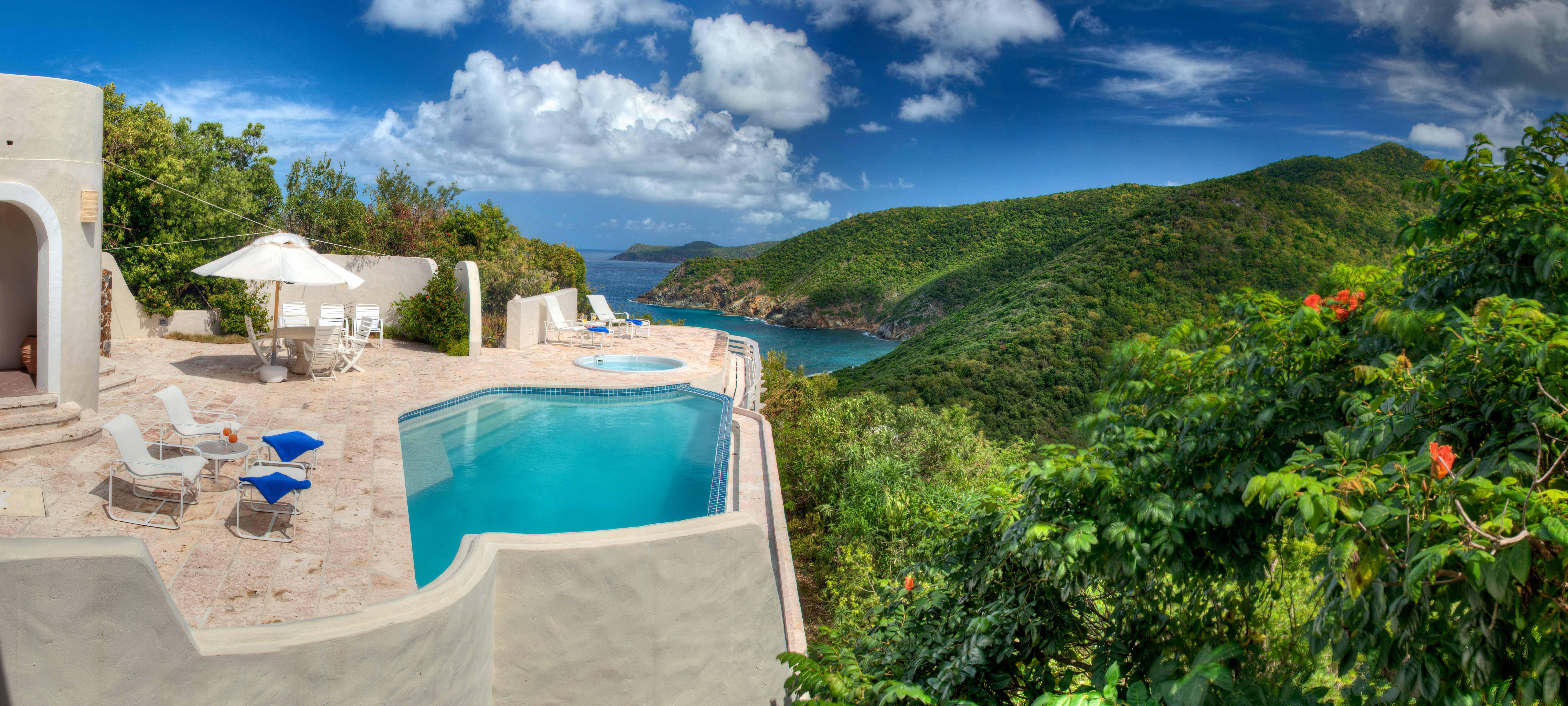 private island honeymoons guana island villa harbor pool