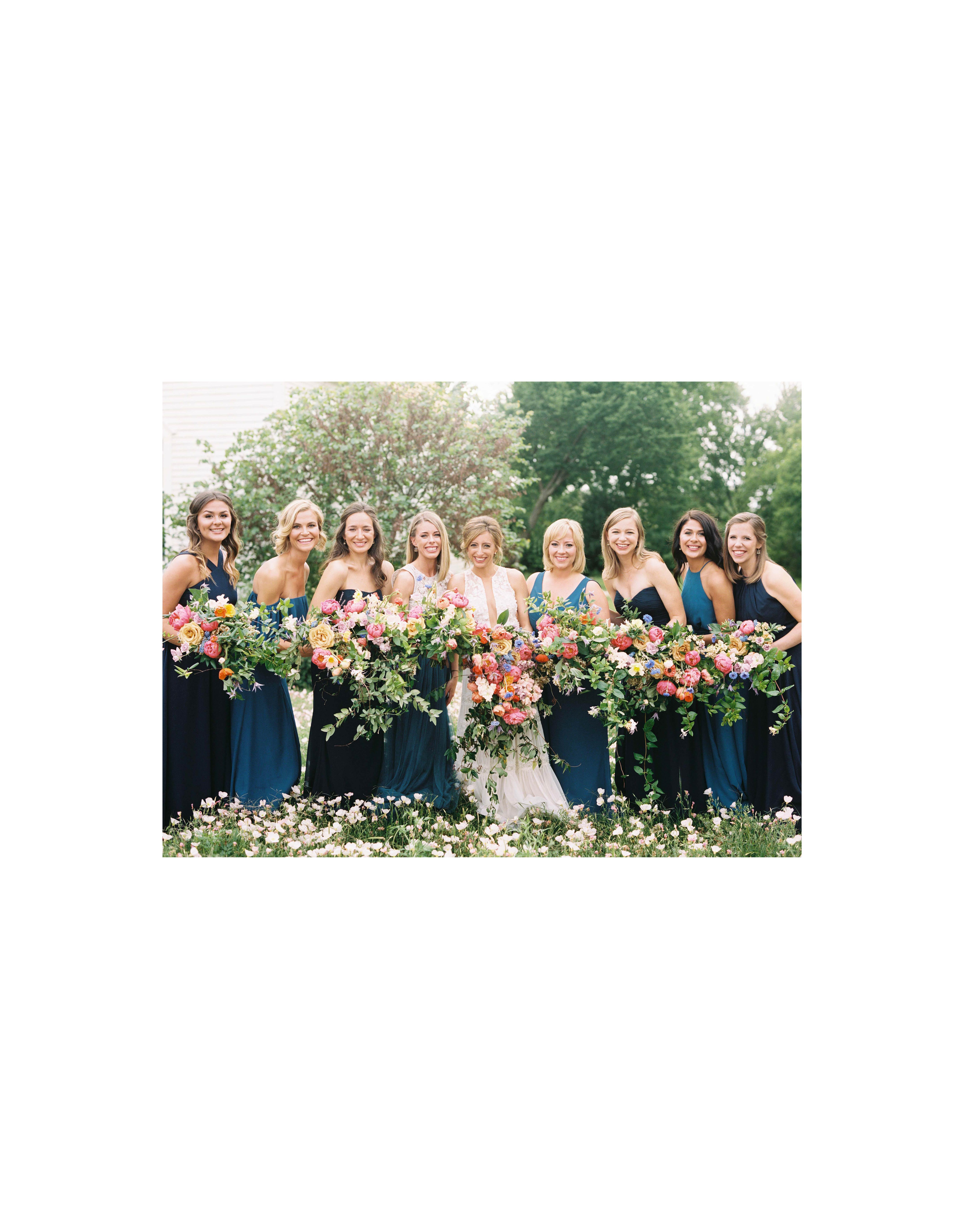 ashley adam wedding texas bridesmaids