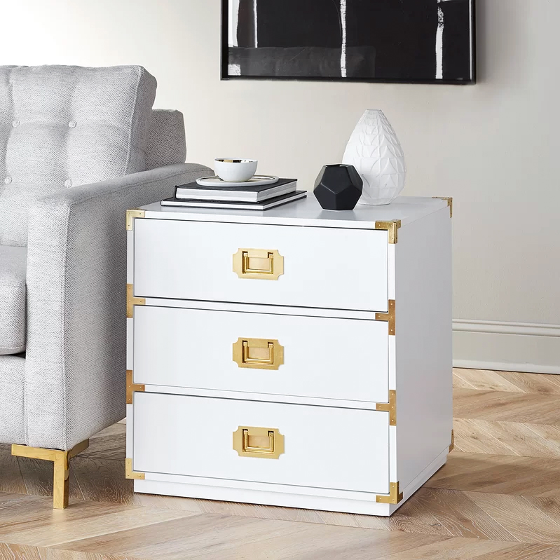 furniture anniversary gift end table white drawers