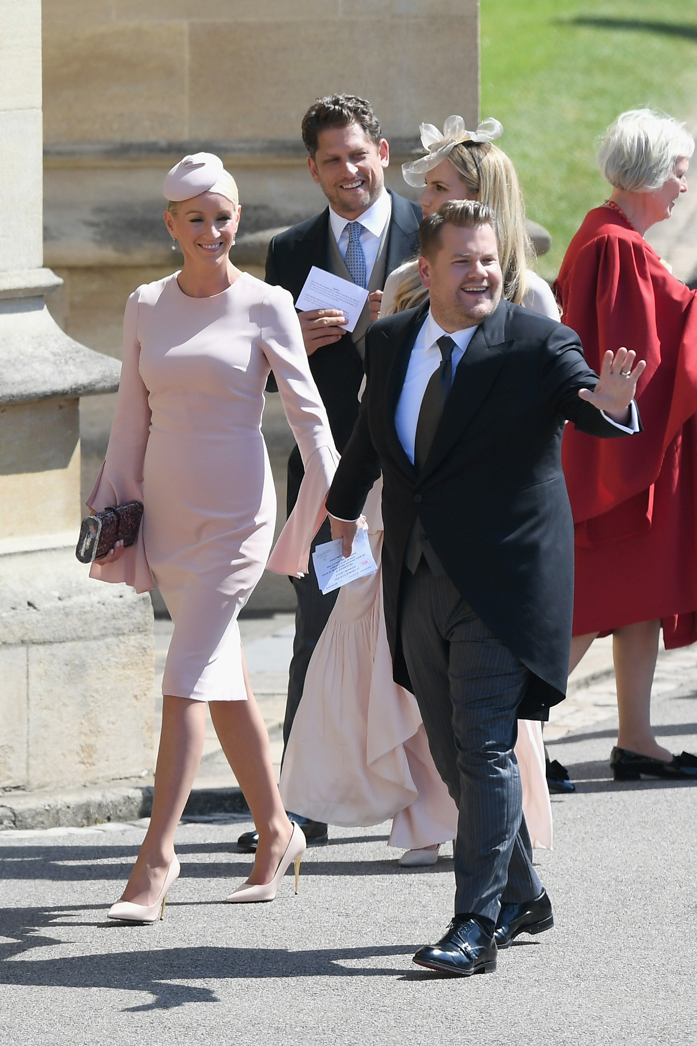 James Corden and Julia Carey Royal Wedding 2018