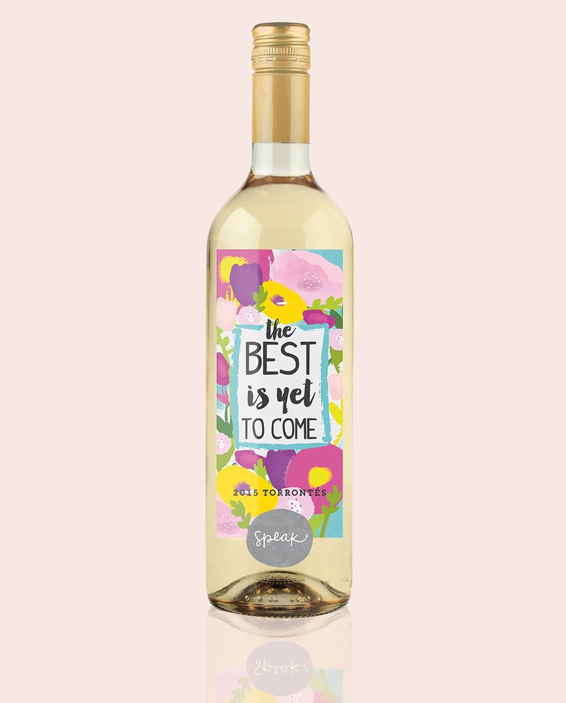 personalized engagement gift wine label