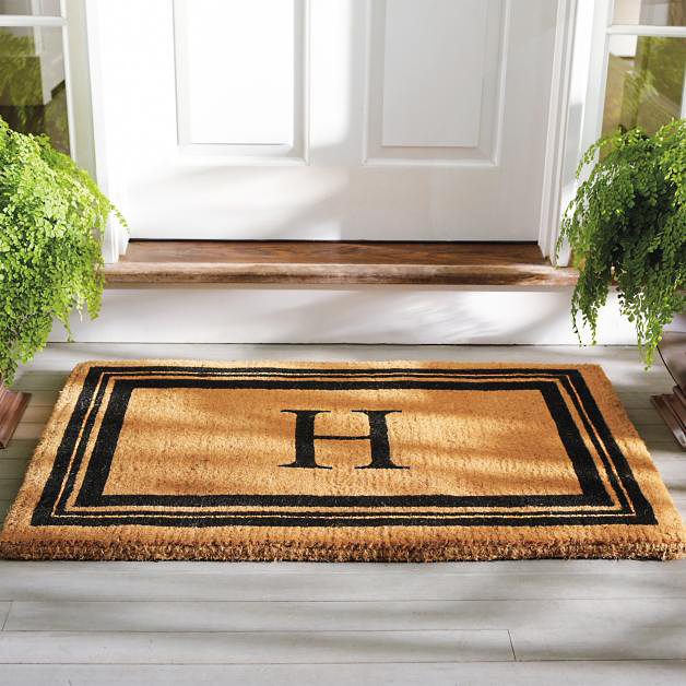 personalized engagement gift door mat
