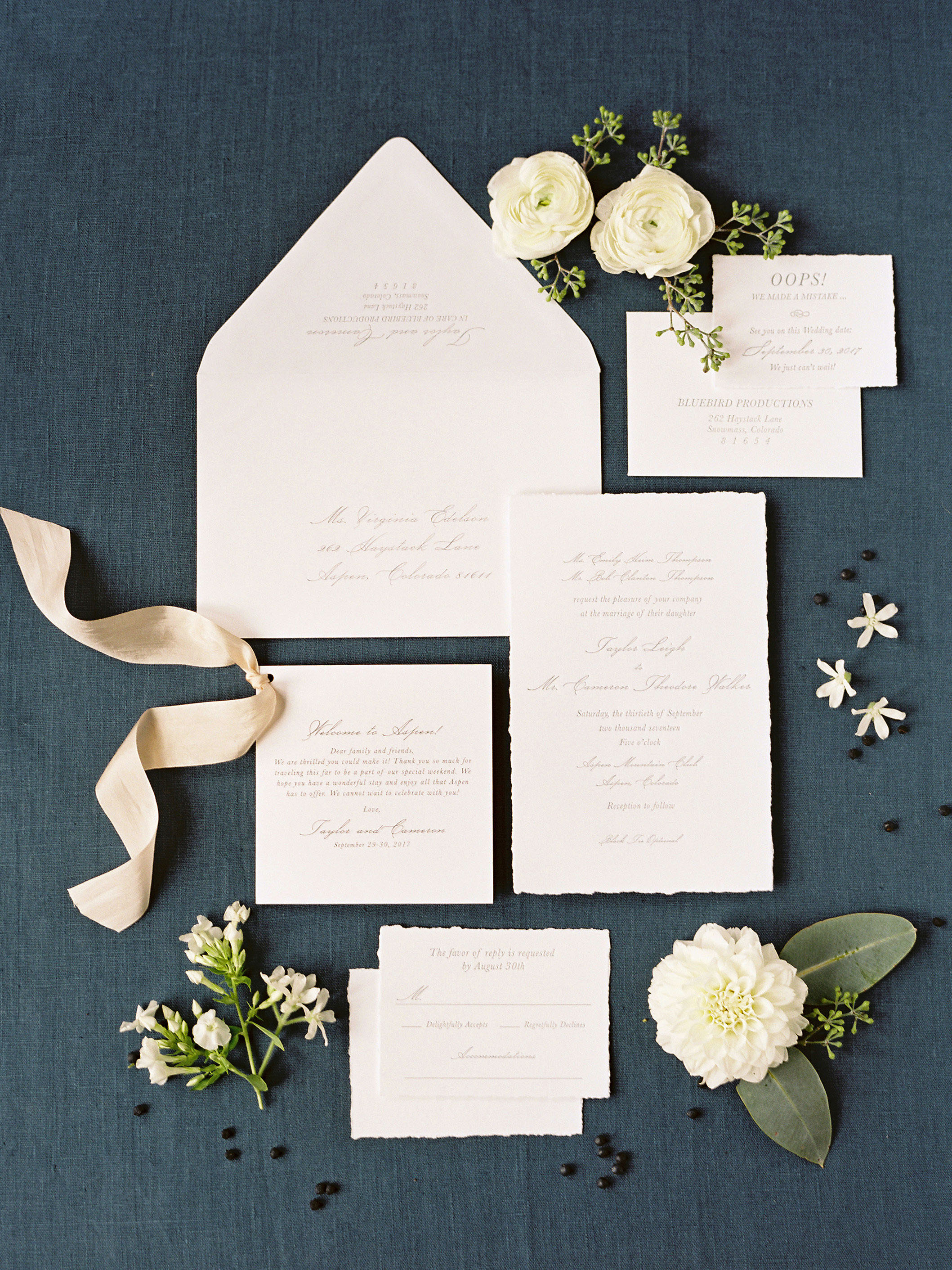 taylor cameron wedding invitation