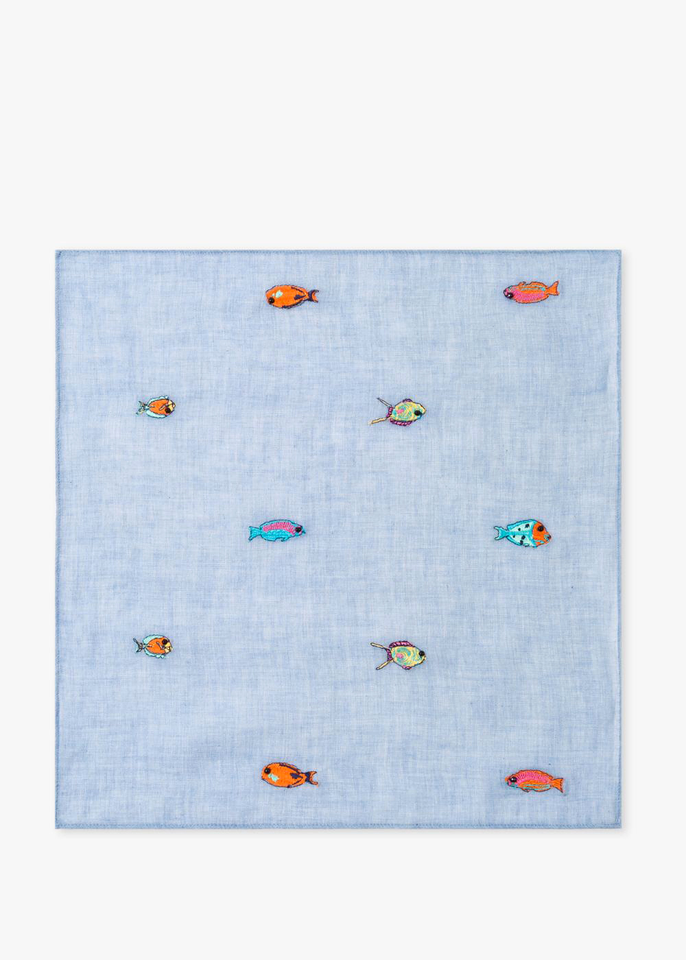 cotton anniversary gift fish pocket square