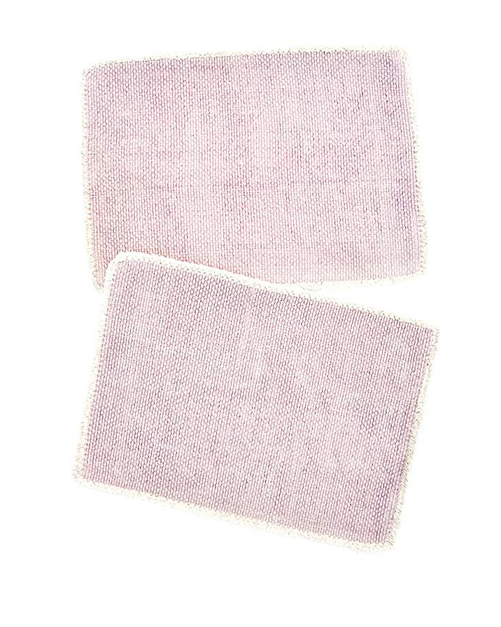 cotton anniversary gift pink placemats