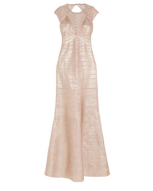 cap sleeve gown